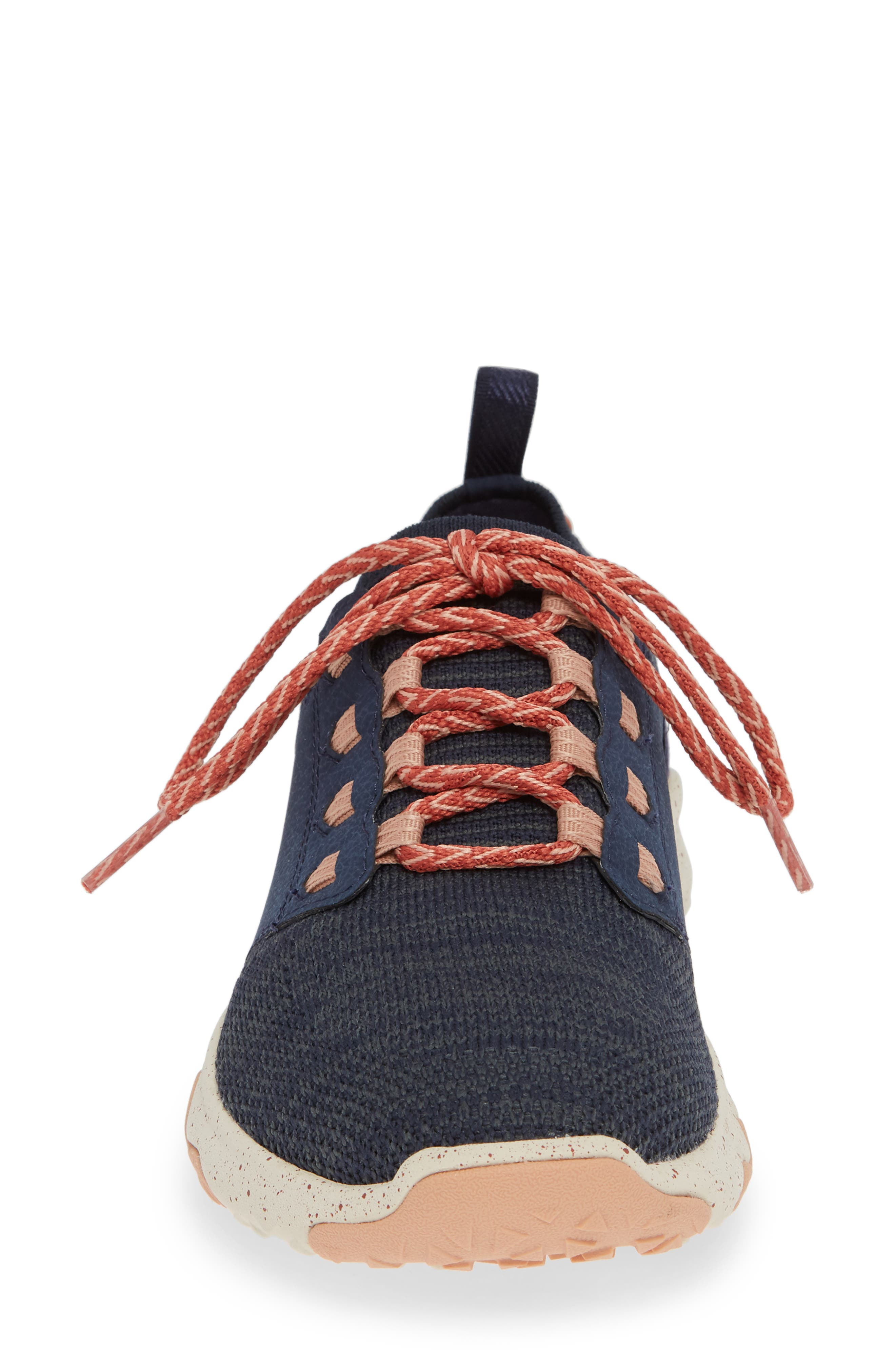 Arrowood 2 Waterproof Knit Sneaker,                             Alternate thumbnail 4, color,                             MIDNIGHT NAVY FABRIC