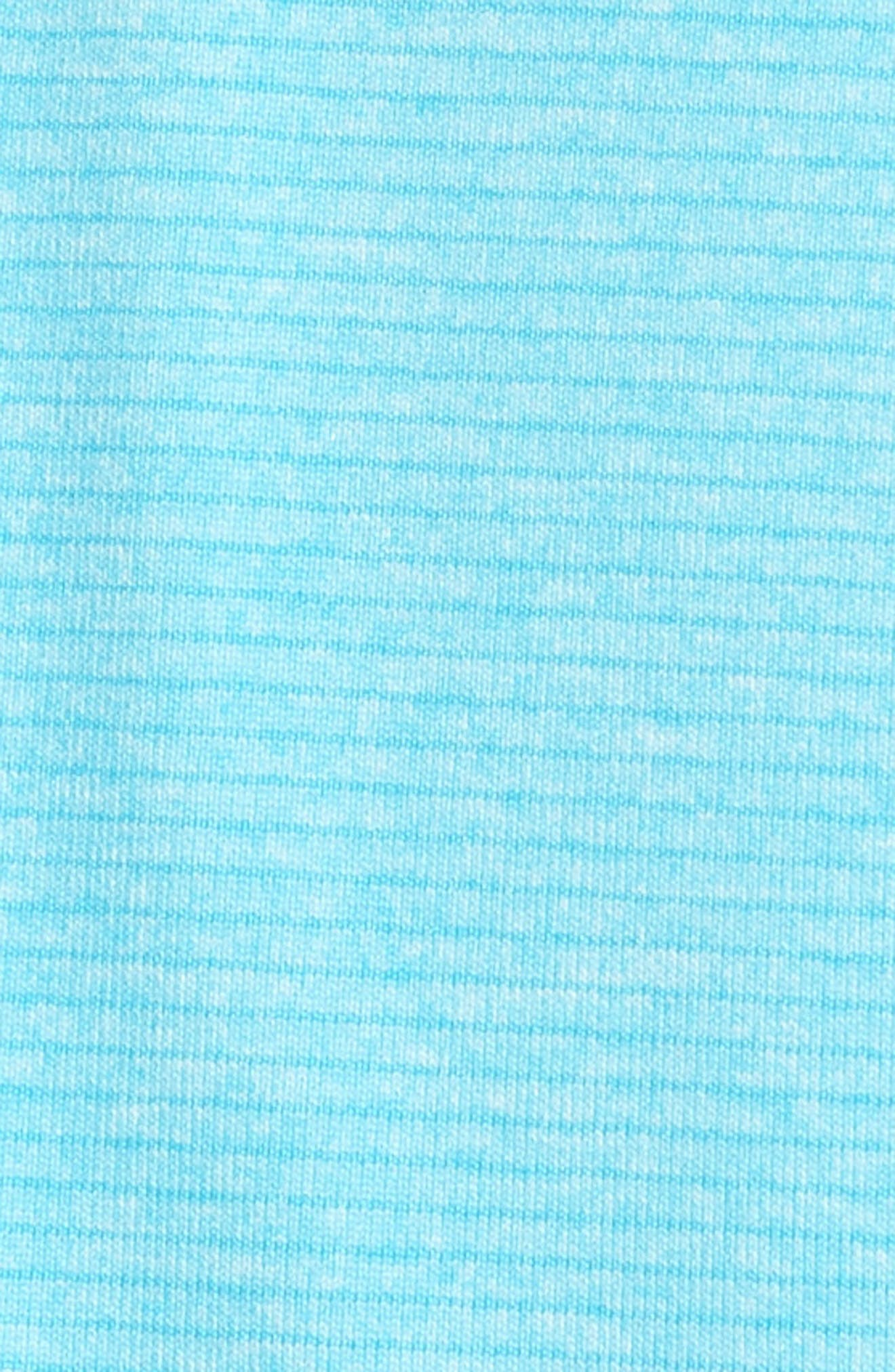 'Shoreline' Quarter Zip Pullover,                             Alternate thumbnail 5, color,                             ARUBA HEATHER