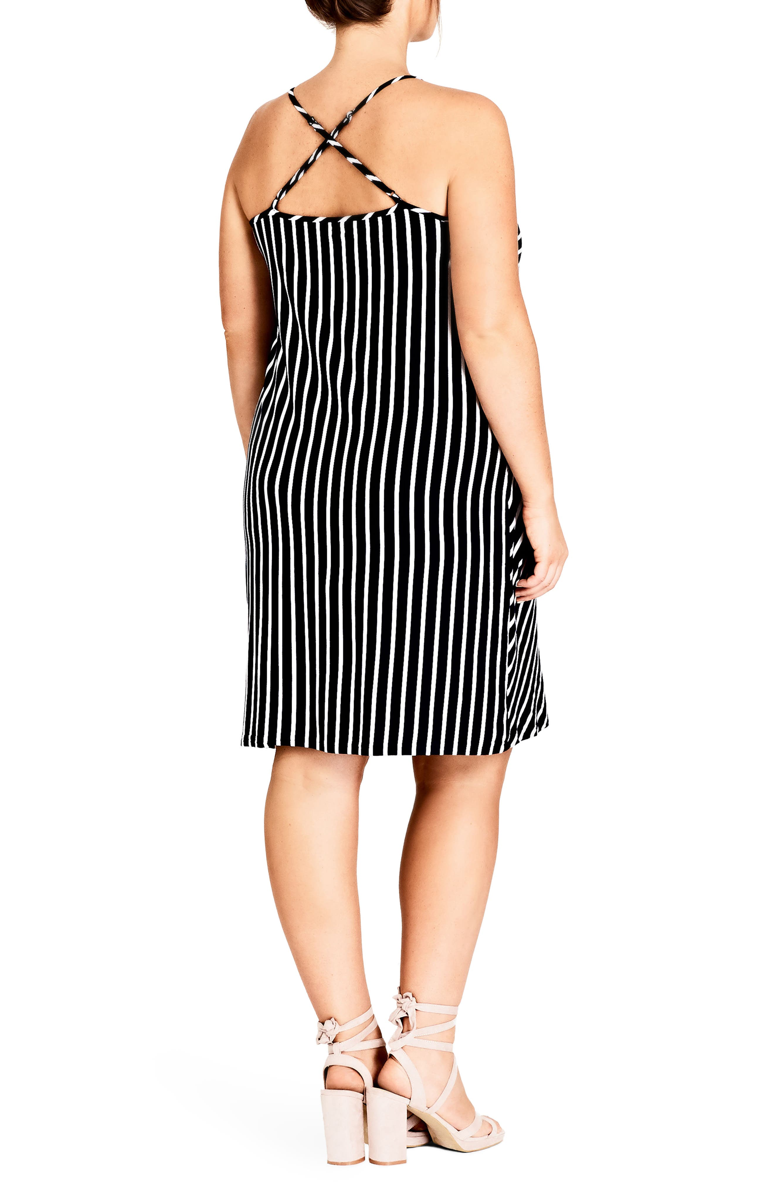 Beachy Days Dress,                             Alternate thumbnail 2, color,                             BLACK STRIPE