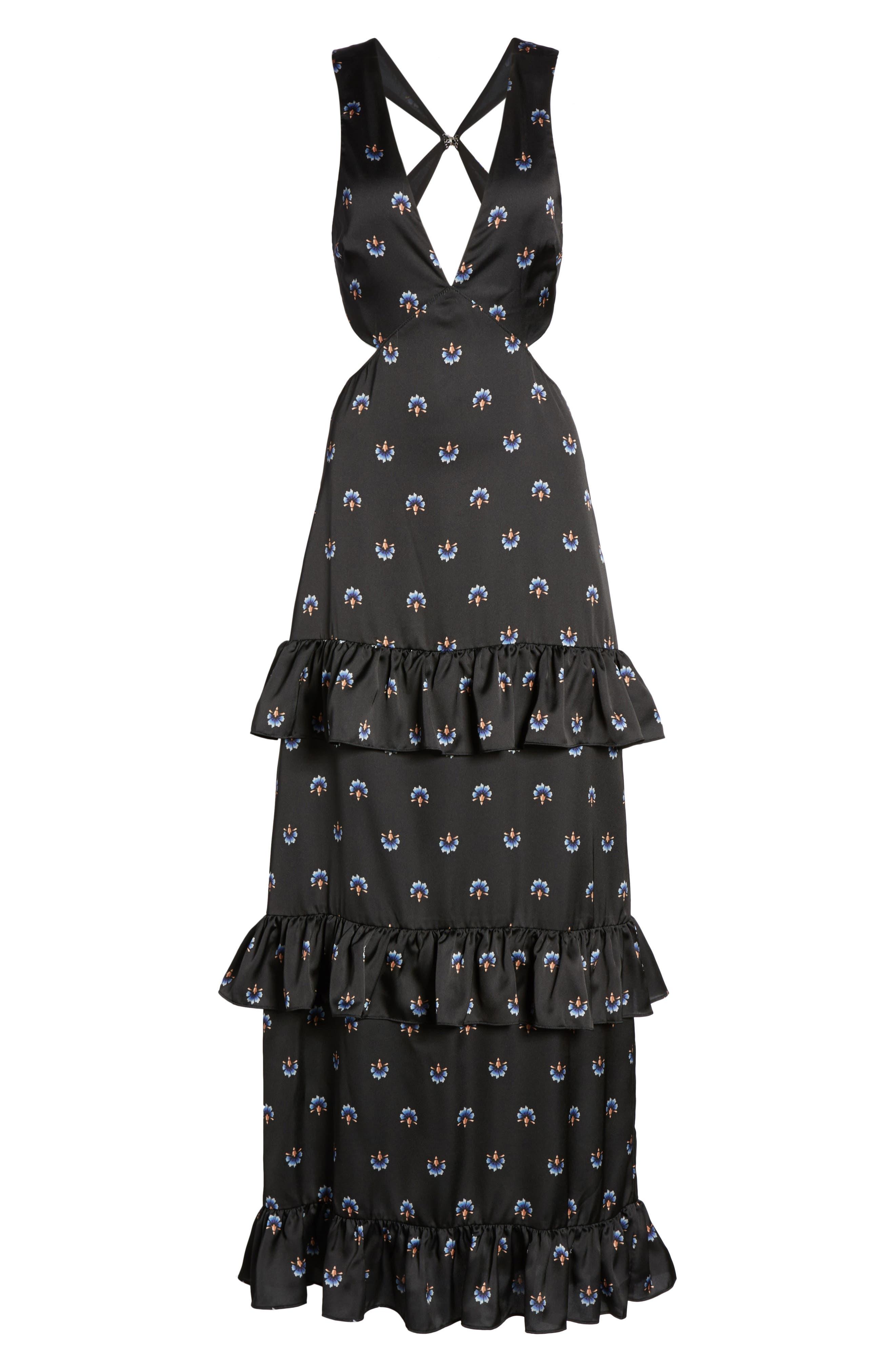 Lanna Tiered Maxi Dress,                             Alternate thumbnail 6, color,                             003