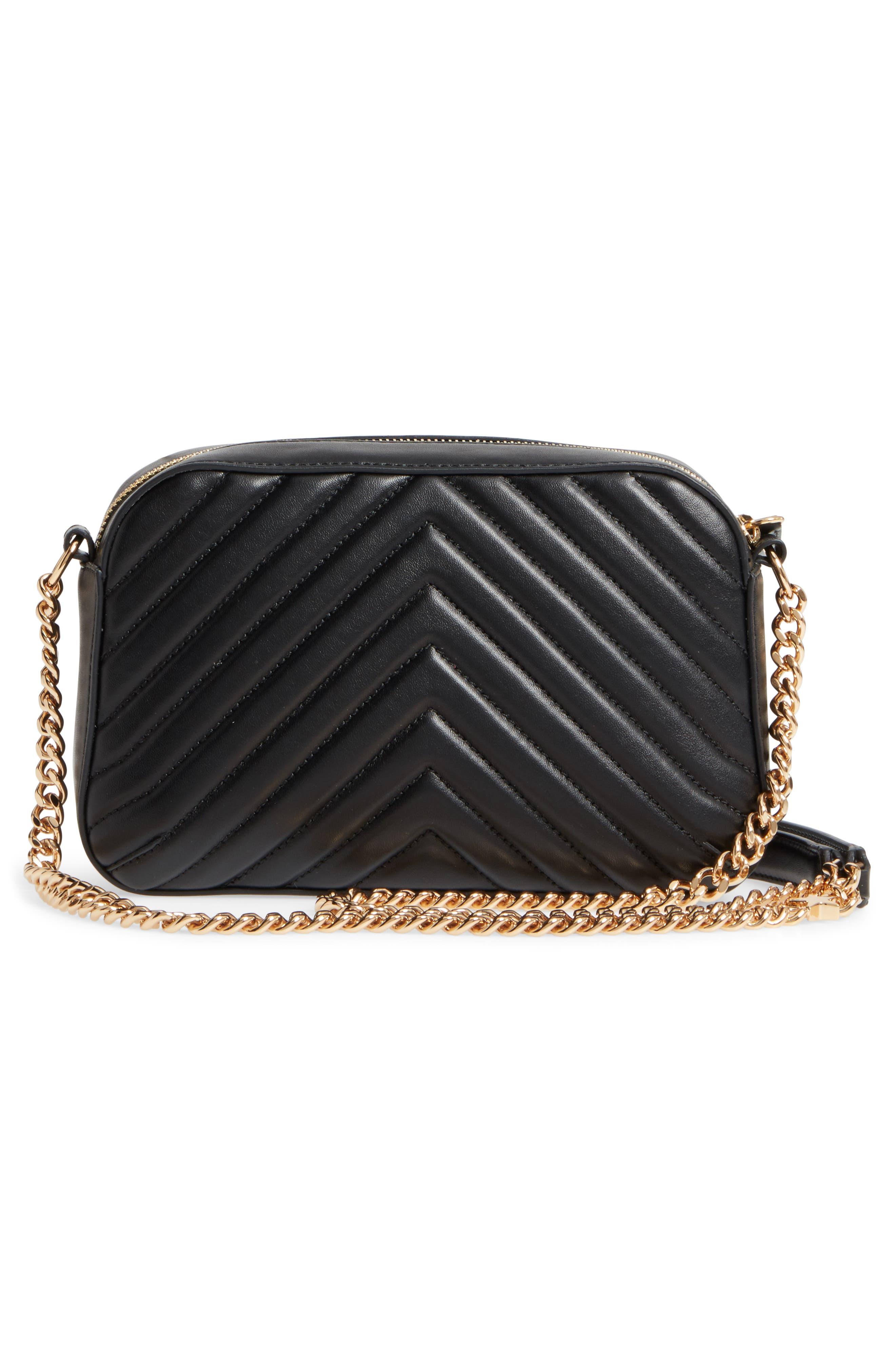 Alter Nappa Faux Leather Shoulder Bag,                             Alternate thumbnail 3, color,                             BLACK