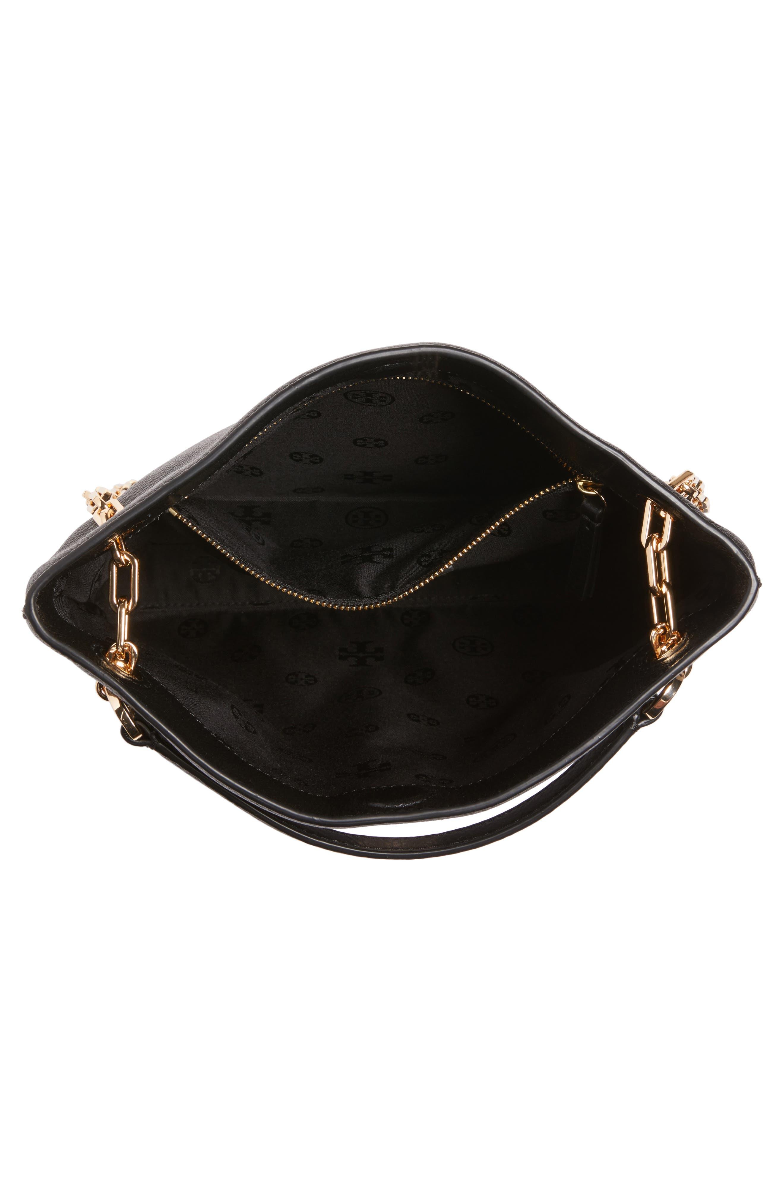 Frida Swingpack Leather Crossbody Bag,                             Alternate thumbnail 4, color,                             001