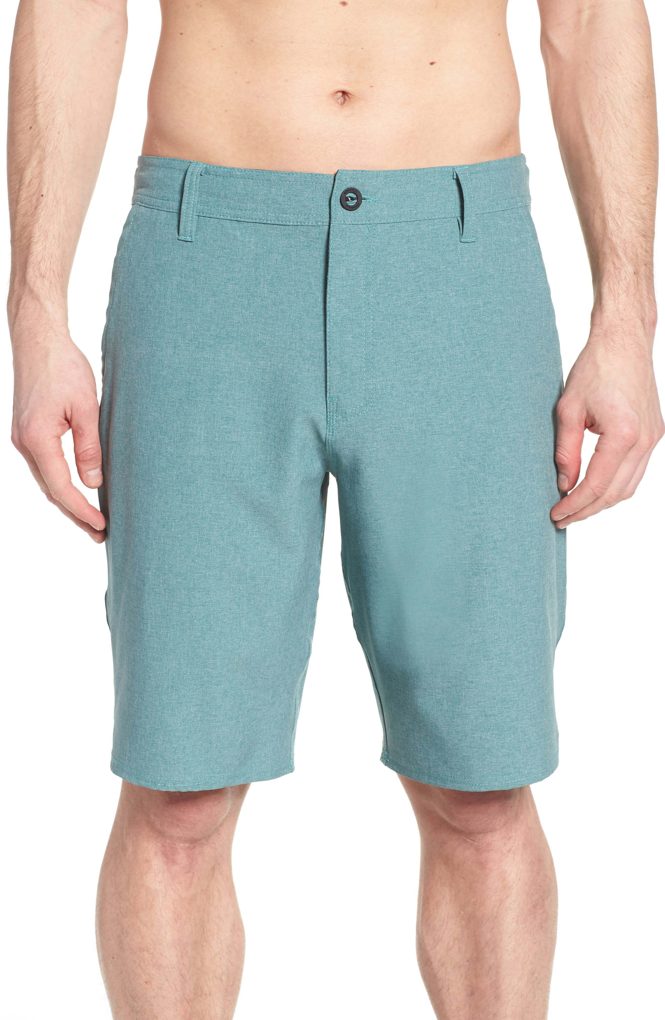 Loaded Heather Hybrid Shorts,                             Alternate thumbnail 4, color,                             300