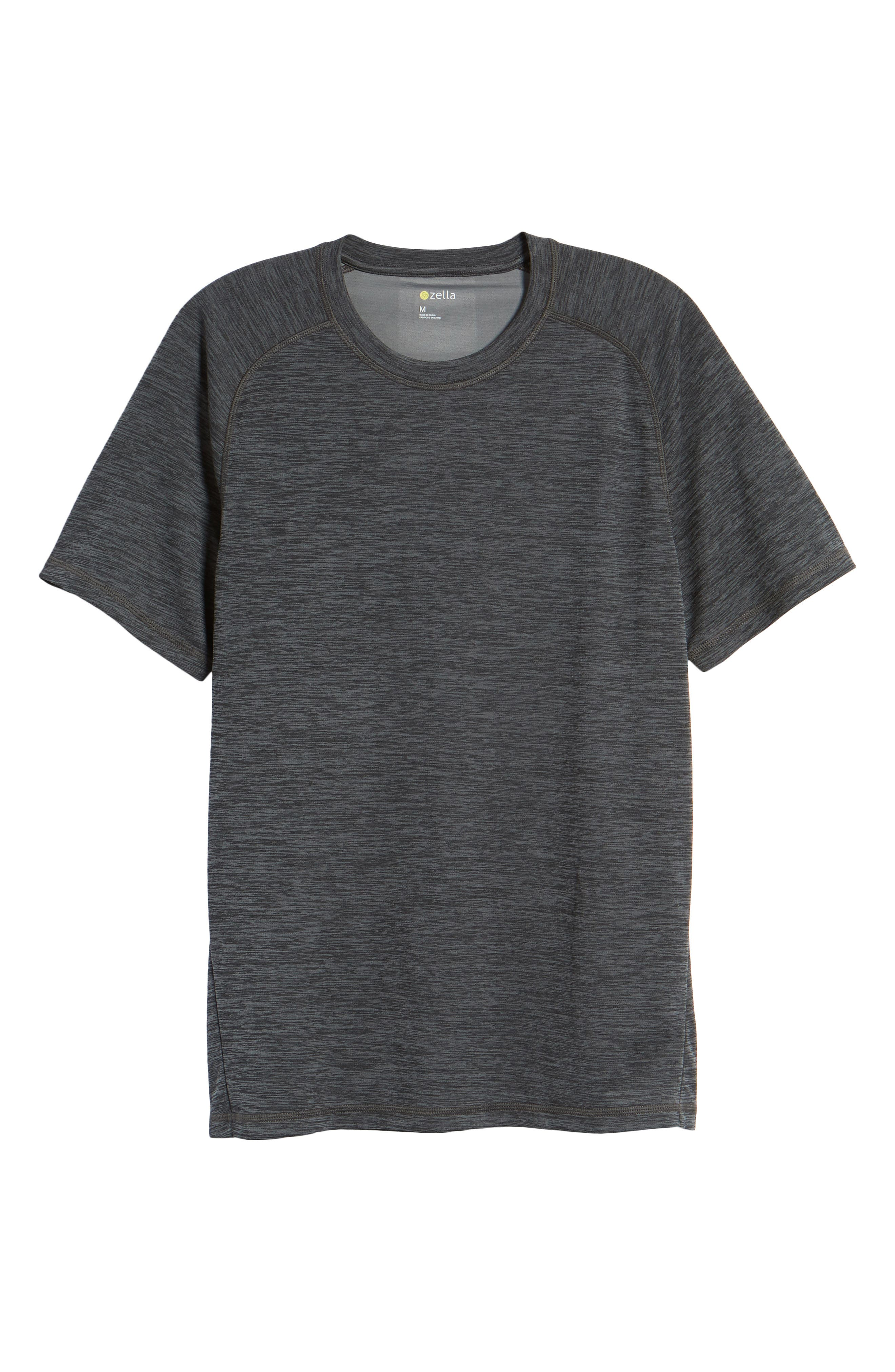 Kinoite Raglan Crewneck T-Shirt,                             Alternate thumbnail 6, color,                             GREY OBSIDIAN MELANGE