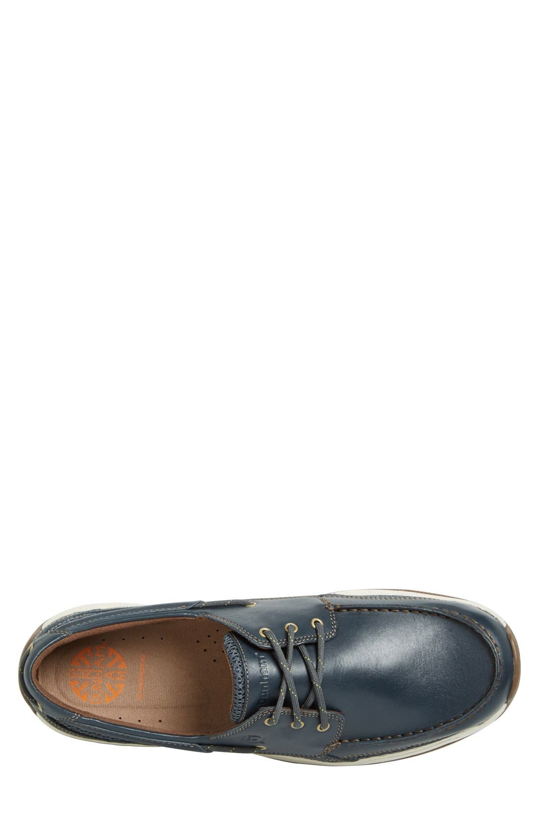 'Captain' Boat Shoe,                             Alternate thumbnail 3, color,                             NAVY
