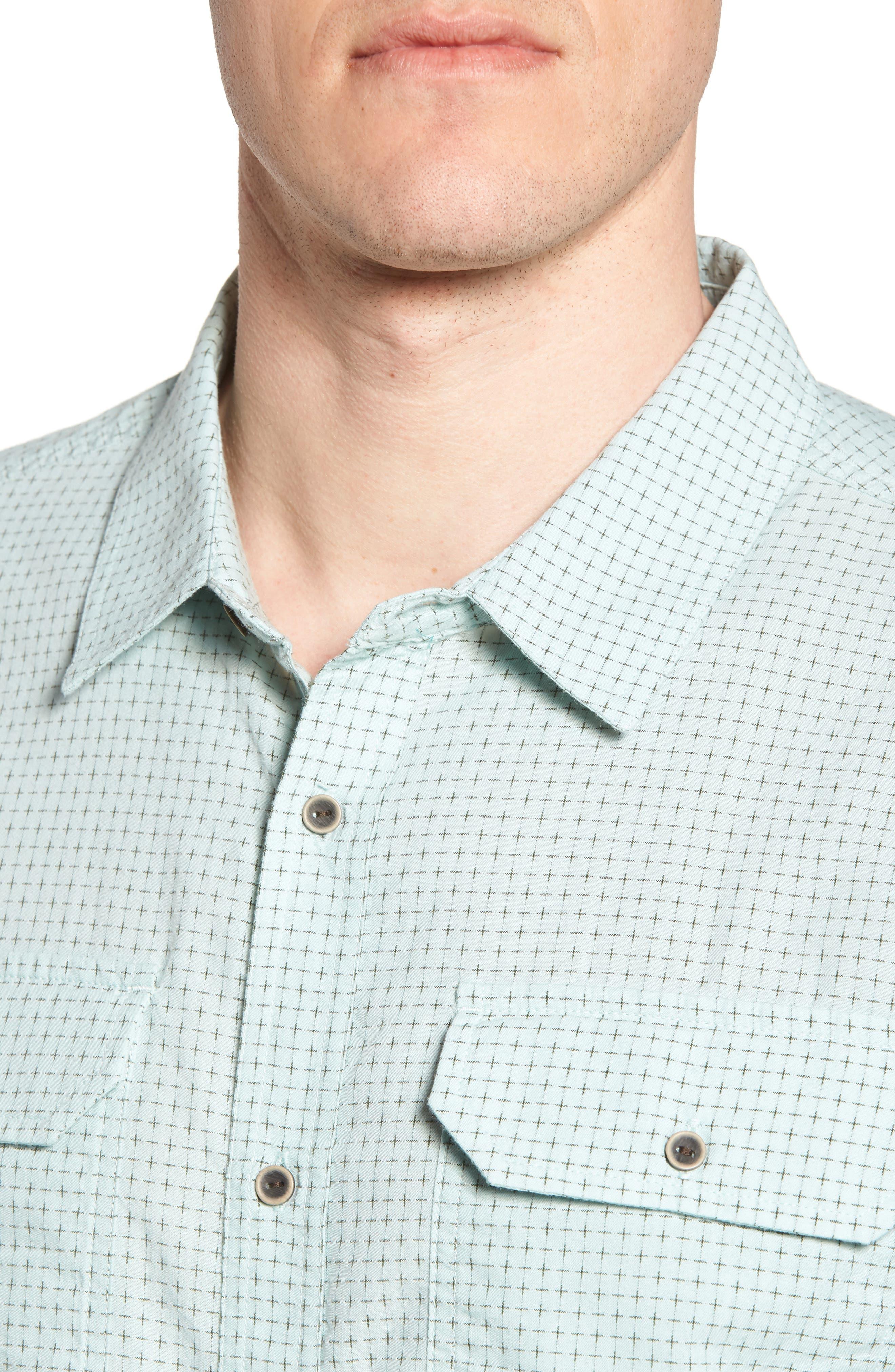 Blakely Slim Fit Short Sleeve Sport Shirt,                             Alternate thumbnail 4, color,                             300