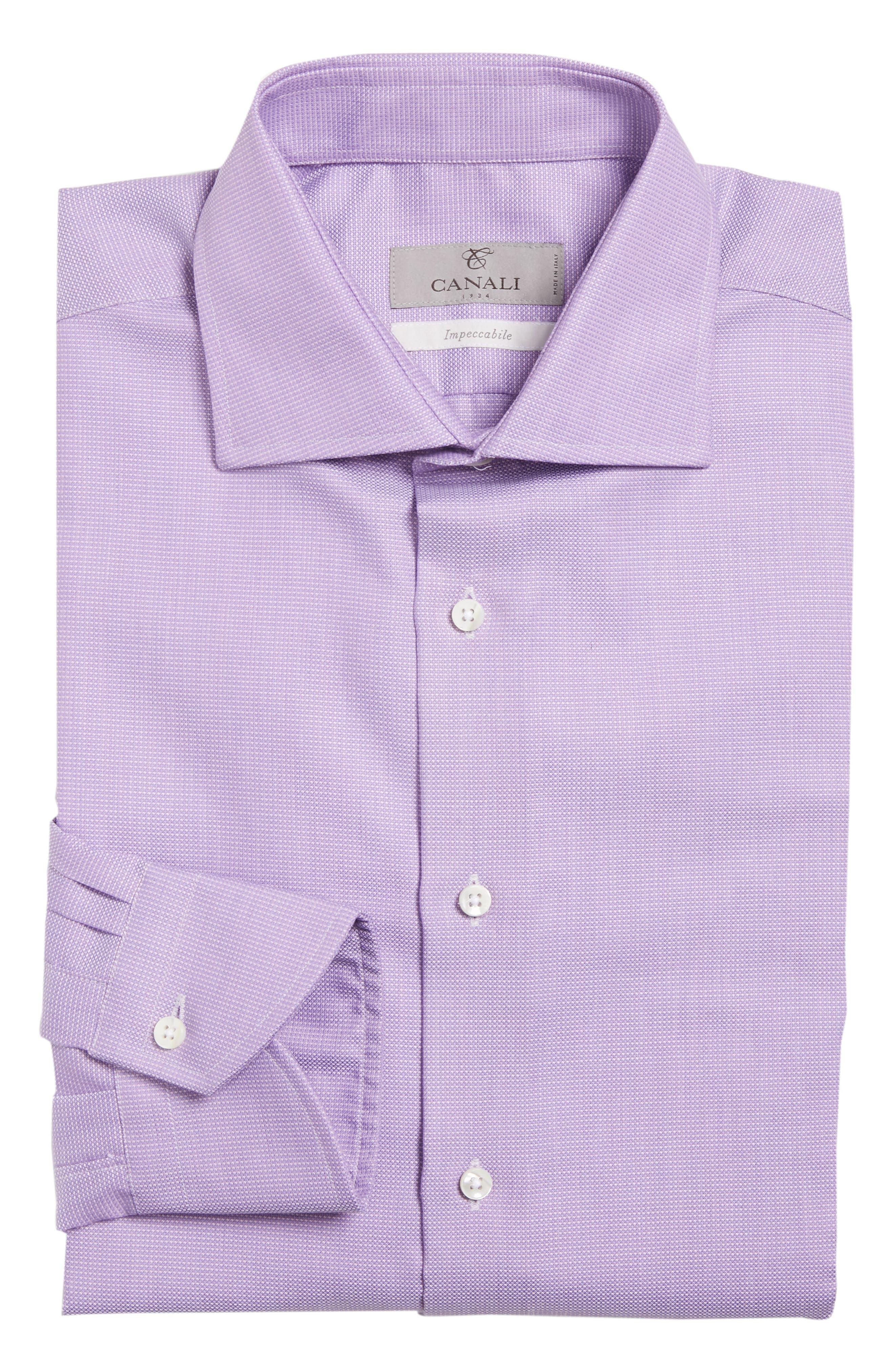 Regular Fit Solid Dress Shirt,                             Alternate thumbnail 5, color,                             520