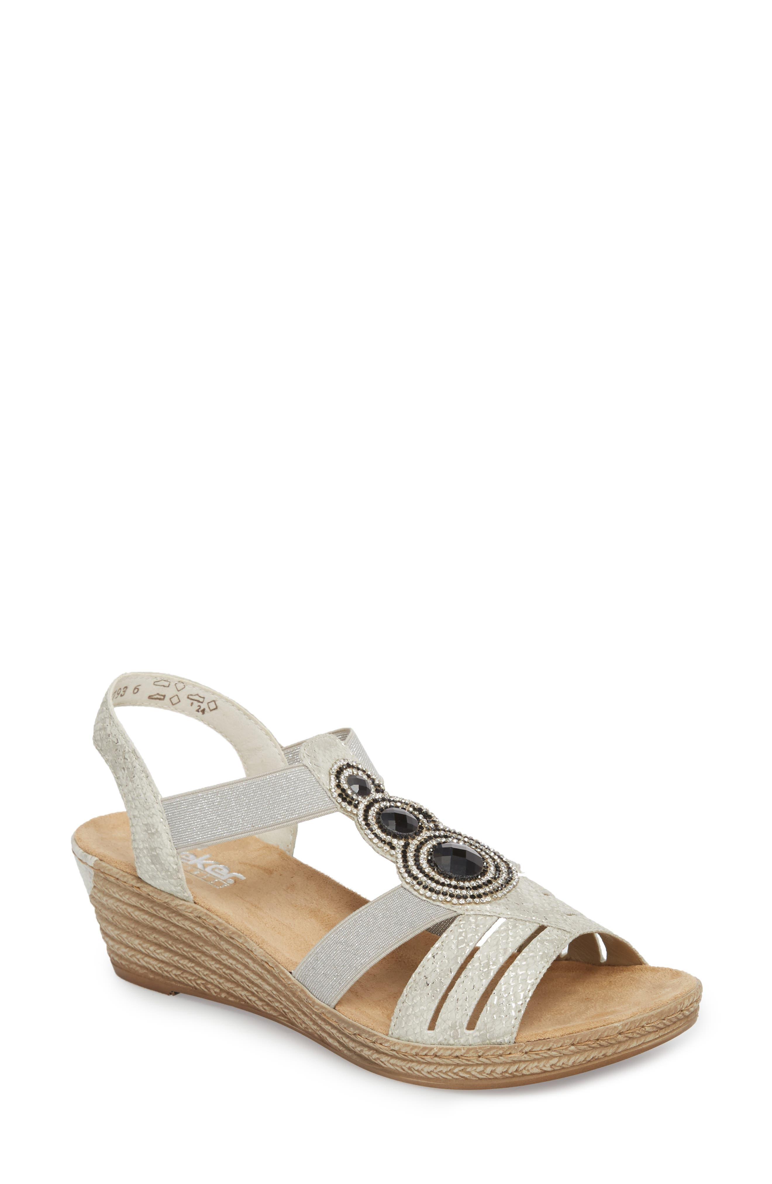 'Fanni' Wedge Sandal,                         Main,                         color, ICE