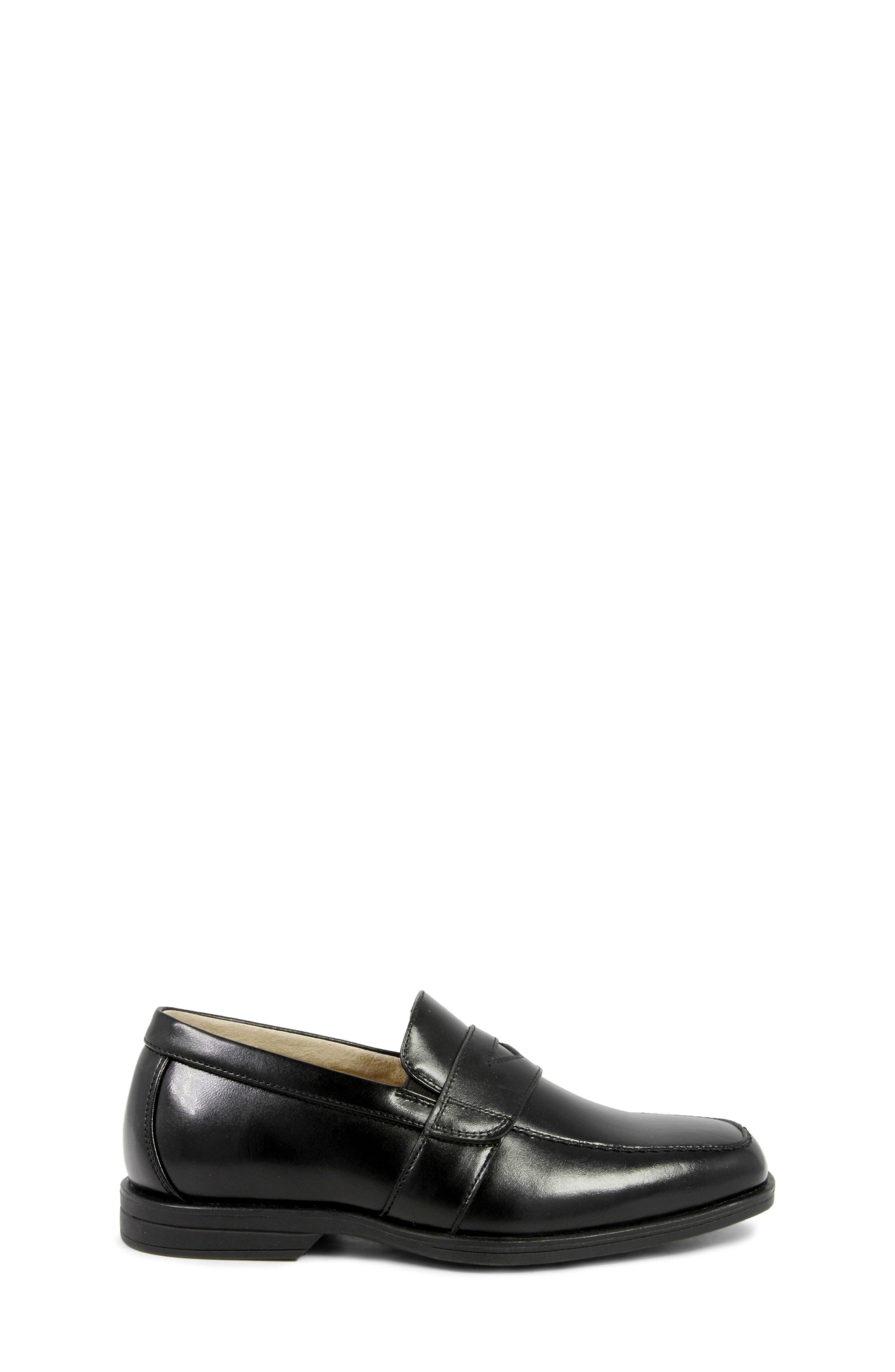 'Reveal' Penny Loafer,                             Alternate thumbnail 3, color,                             BLACK