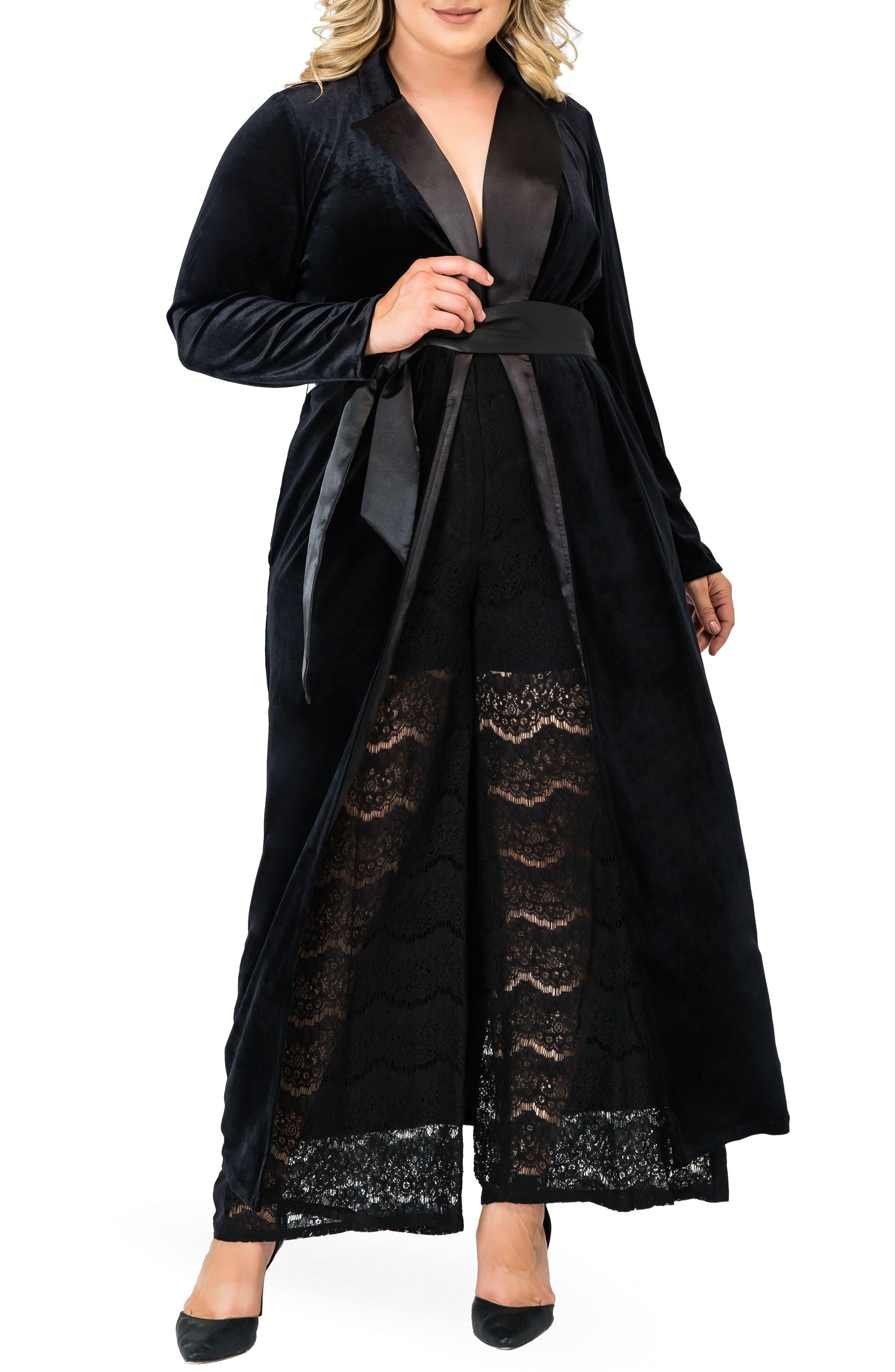 STANDARDS & PRACTICES,                             Freya Wrap Coat Dress,                             Alternate thumbnail 5, color,                             BLACK