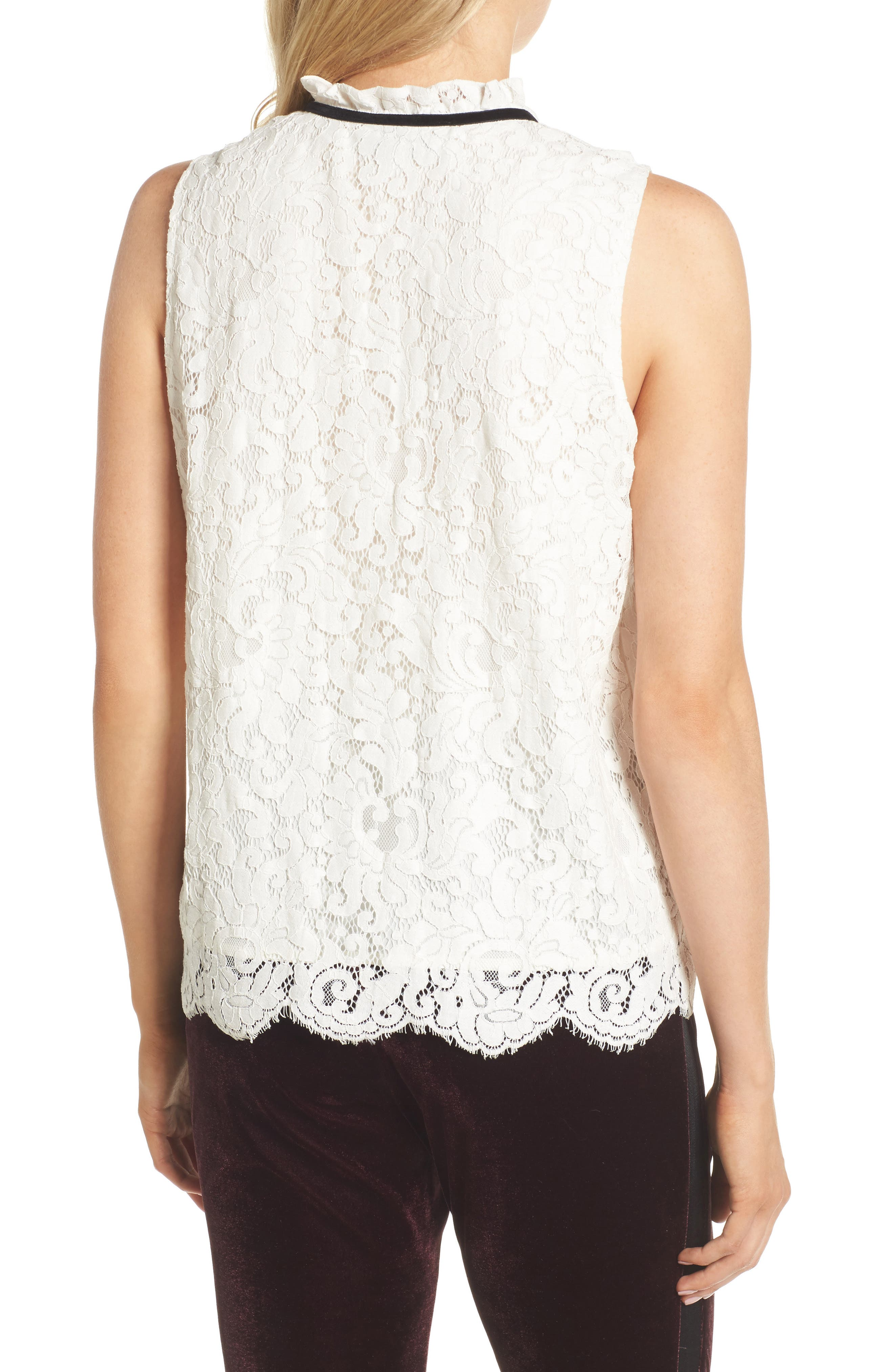 Isra Lace Top,                             Alternate thumbnail 4, color,