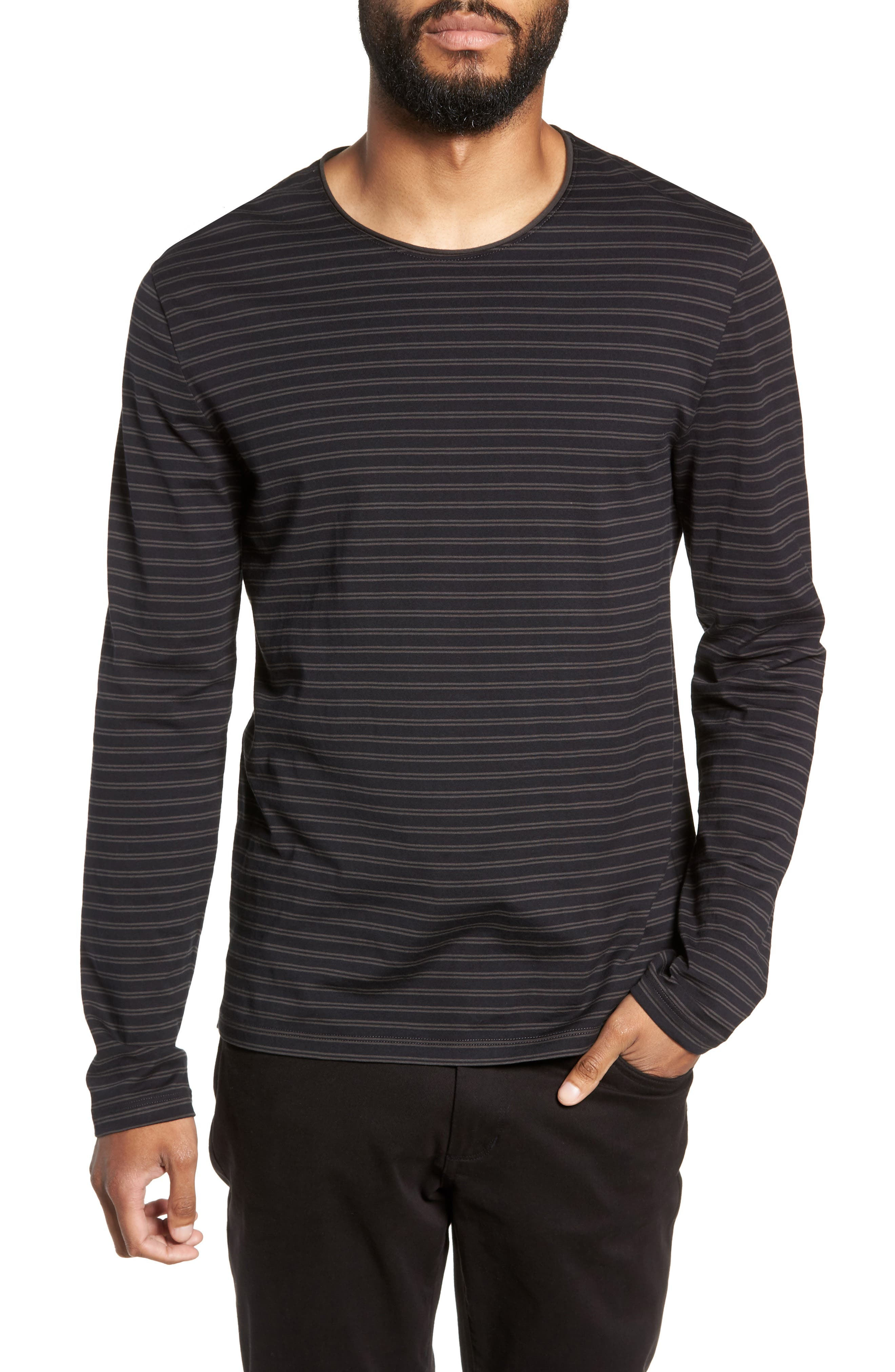 Double Stripe Long Sleeve T-Shirt,                         Main,                         color, 400