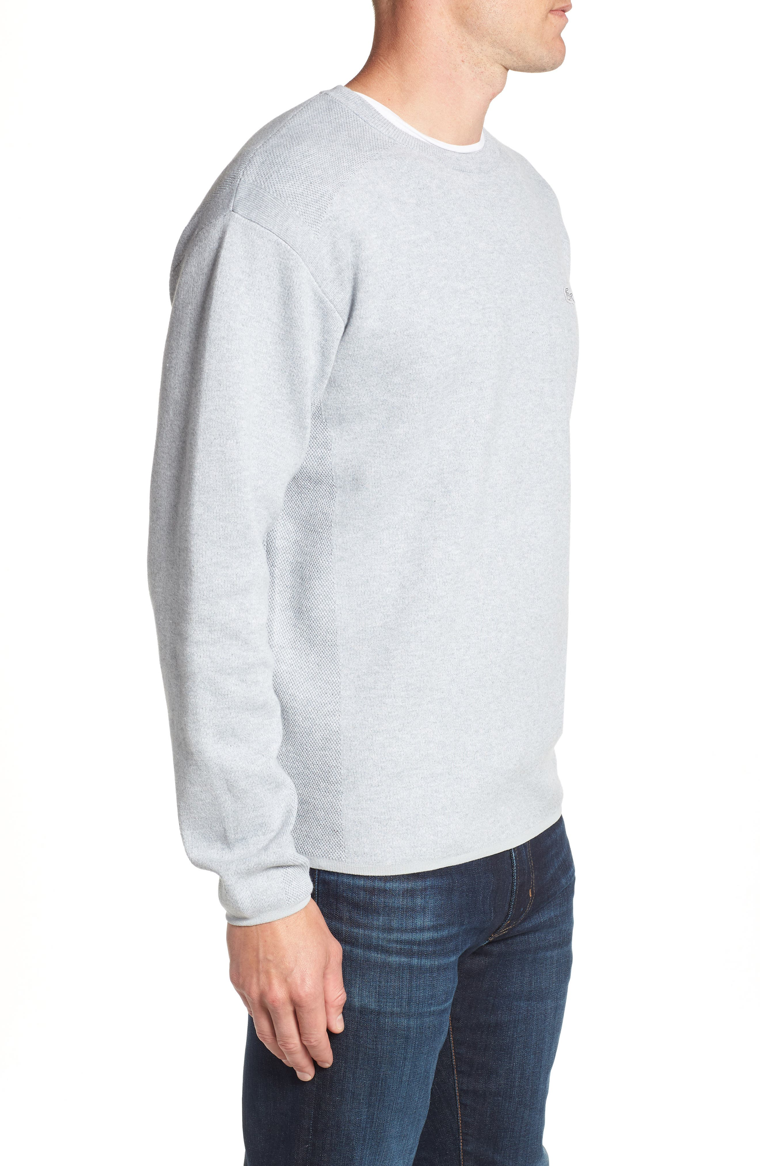 Textured Stitch Crewneck Sweater,                             Alternate thumbnail 3, color,                             057