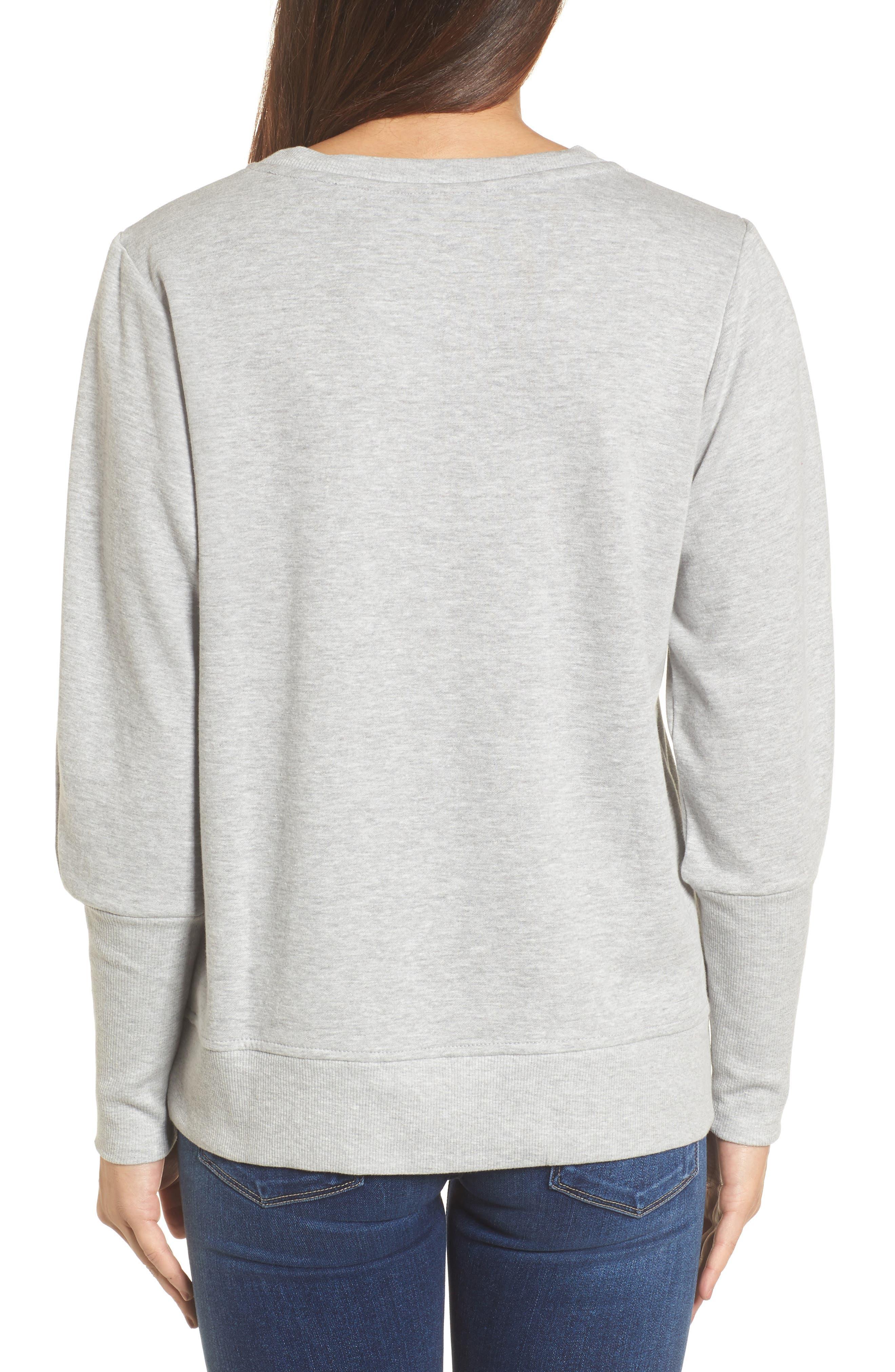 Blouson Sleeve Sweatshirt,                             Alternate thumbnail 7, color,
