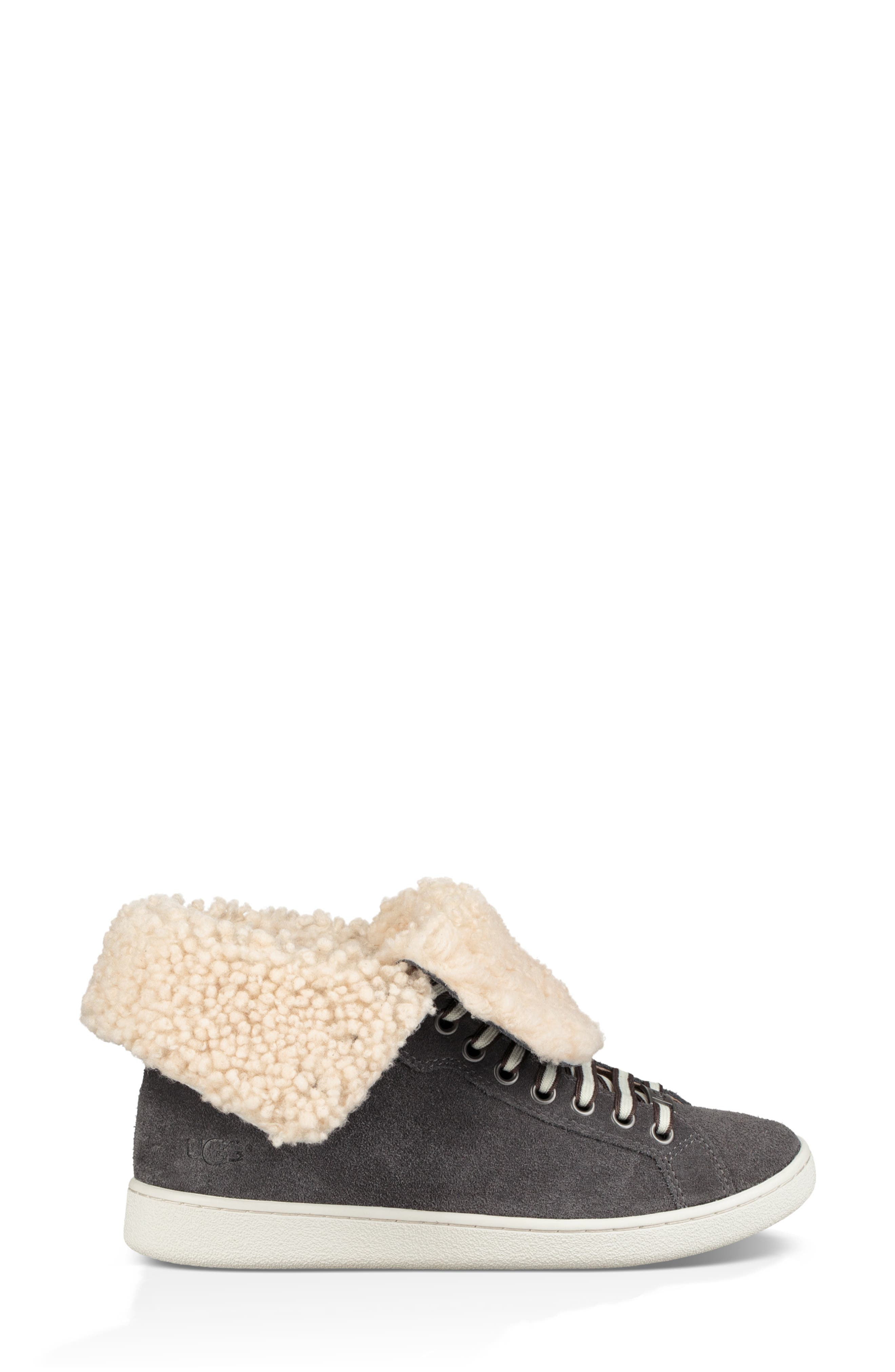 Starlyn Genuine Shearling Lined Boot,                             Alternate thumbnail 4, color,                             CHARCOAL