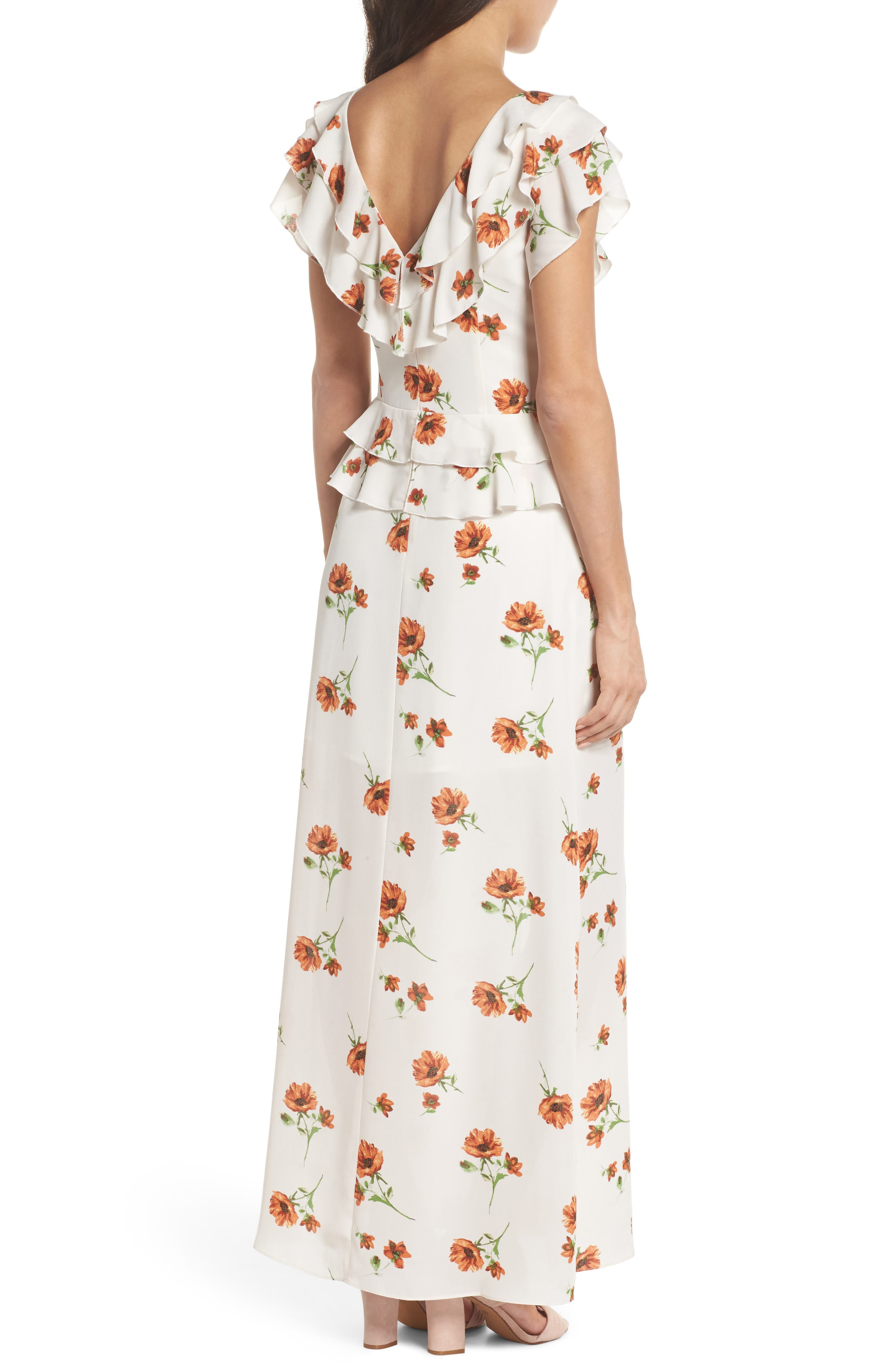 Darling Nikki Floral Maxi Dress,                             Alternate thumbnail 2, color,                             100