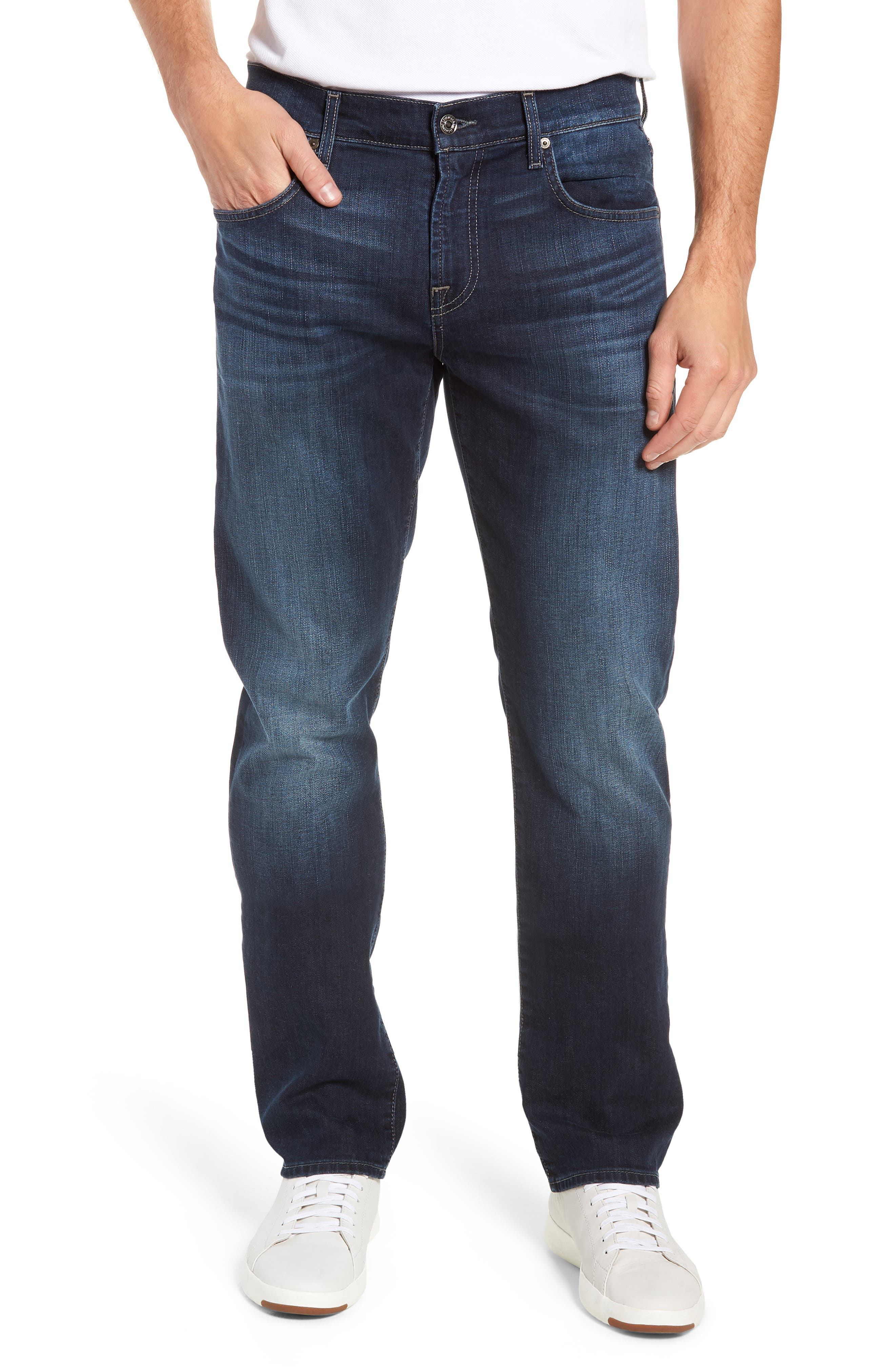 Straight Leg Jeans,                         Main,                         color, JUSTICE