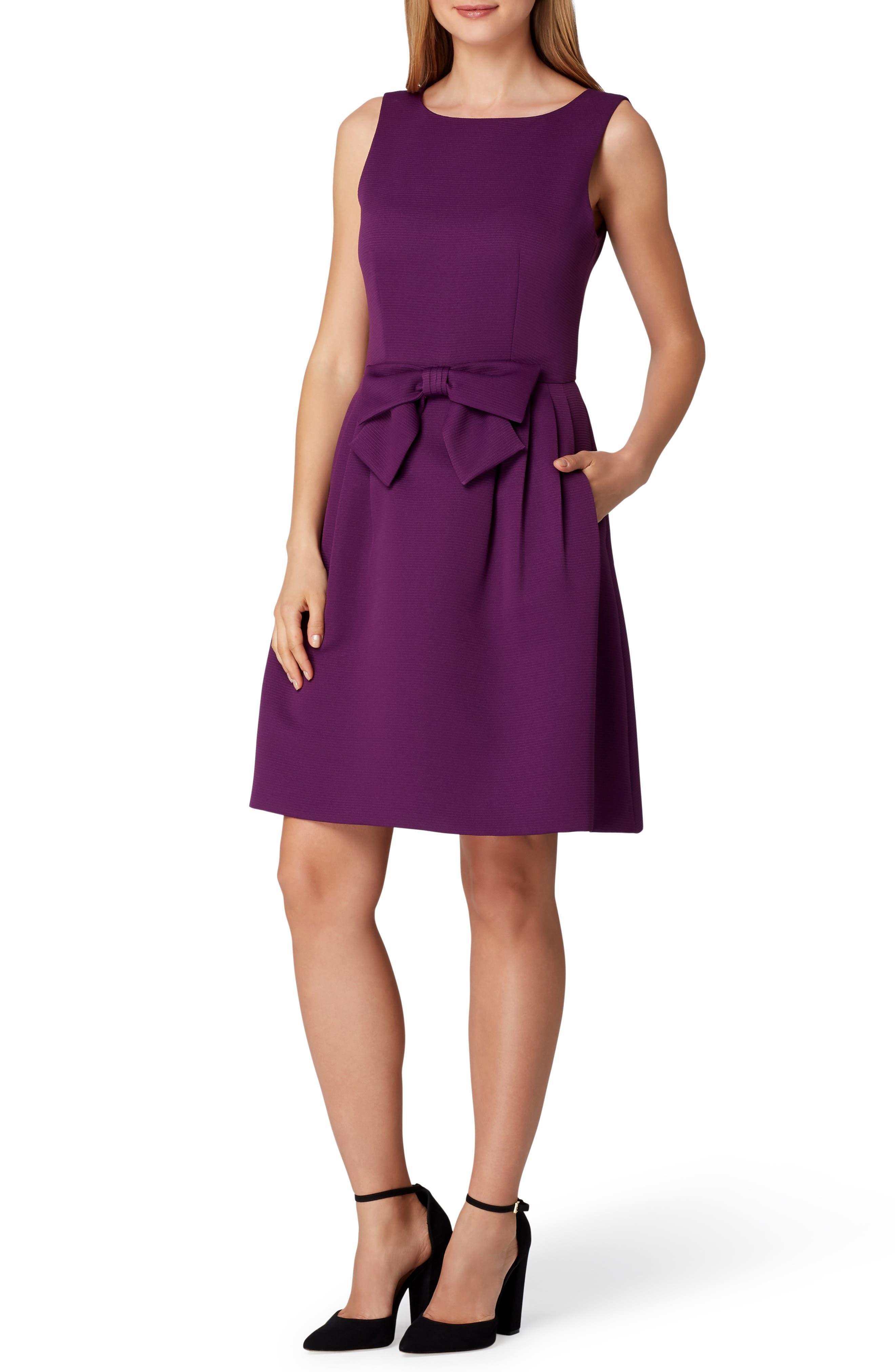 Sleeveless Bow Waist Fit & Flare Dress,                         Main,                         color, 515