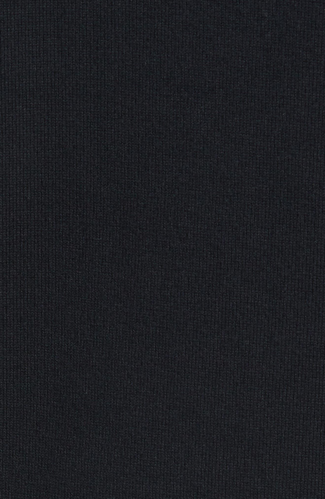 Cleveland Browns - Lakemont Regular Fit Quarter Zip Sweater,                             Alternate thumbnail 5, color,                             BLACK