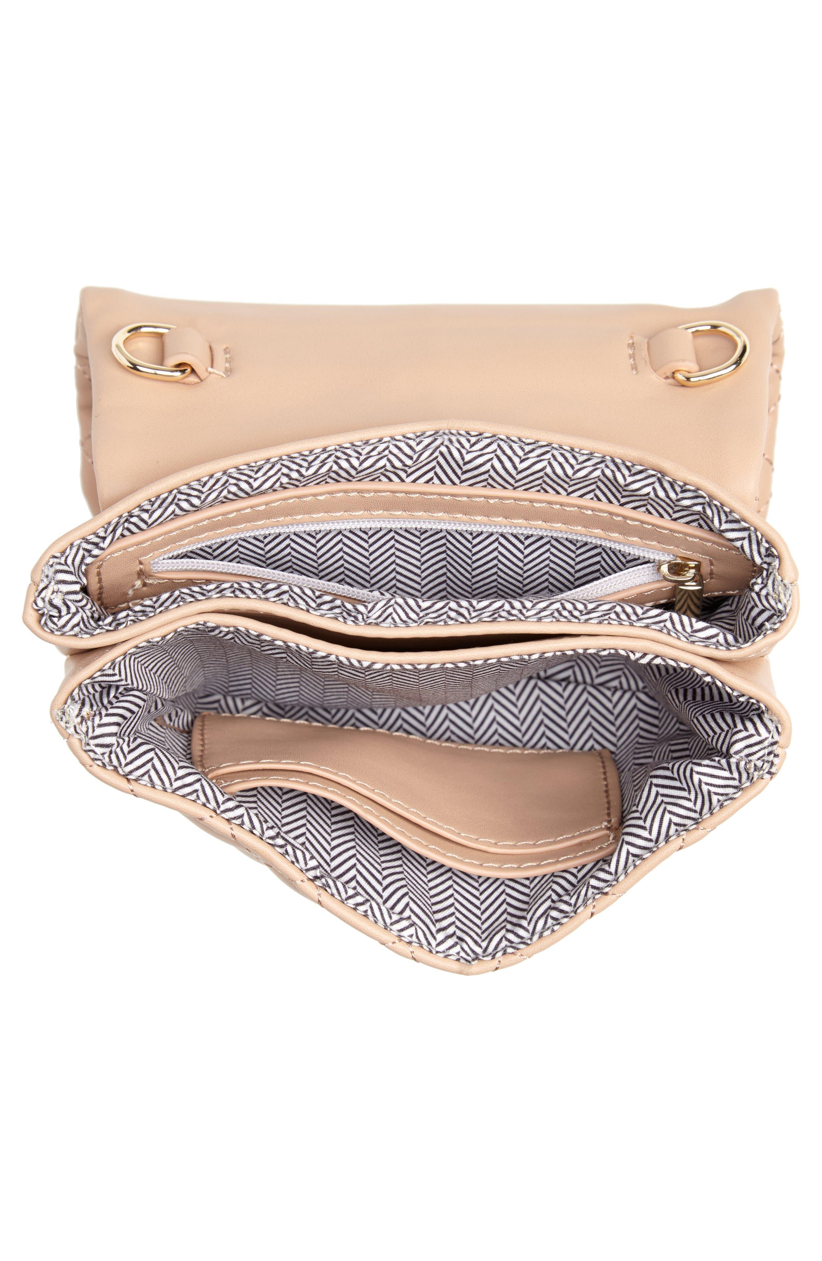 Mali + Lili Quilted Vegan Leather Belt Bag,                             Alternate thumbnail 7, color,                             CAMEL