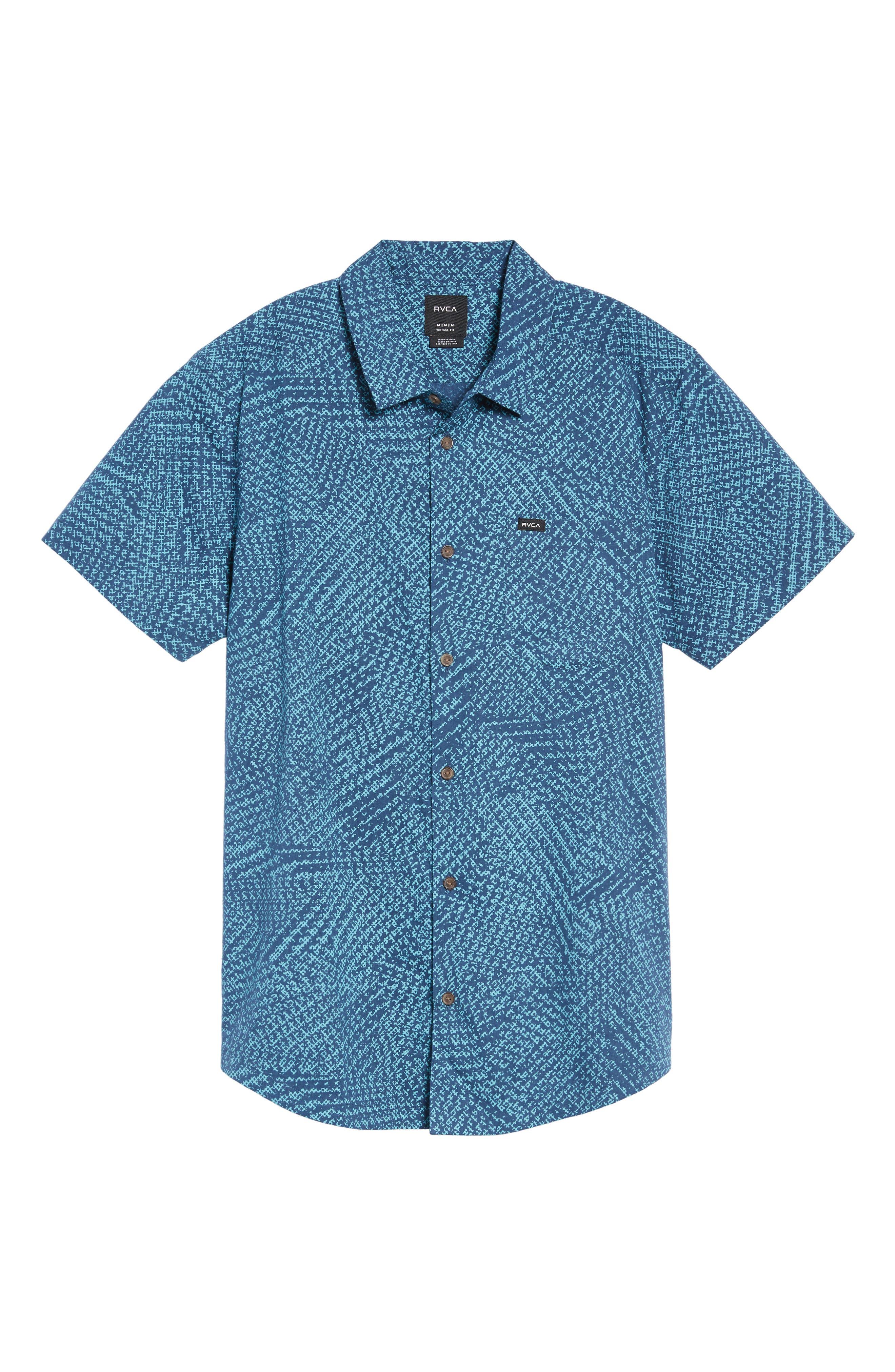 Grid Woven Shirt,                             Alternate thumbnail 6, color,                             497
