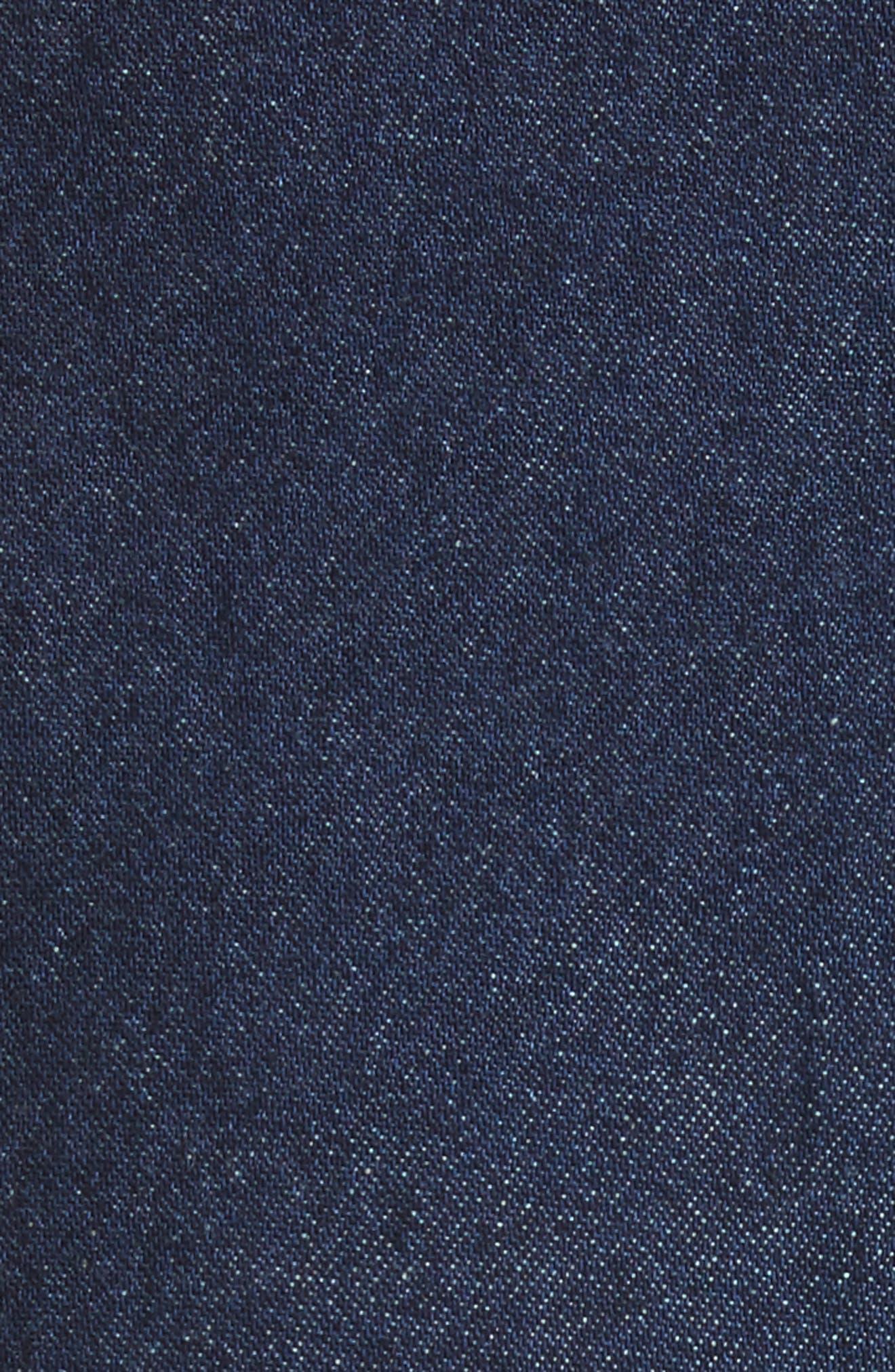 Dune Imitation Pearl Trim Wide Leg Crop Jeans,                             Alternate thumbnail 5, color,                             400