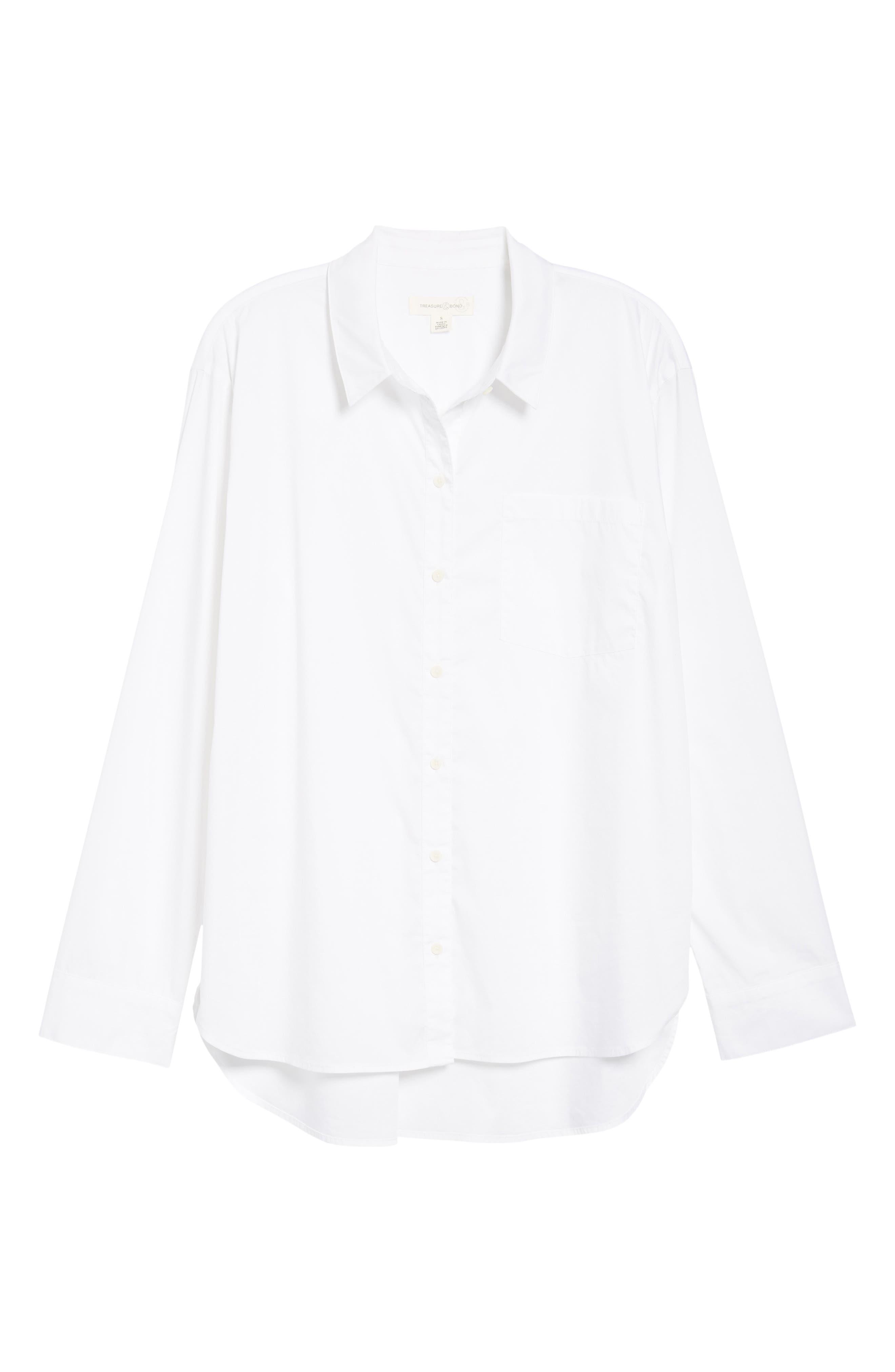 Oversize Shirt,                             Alternate thumbnail 6, color,                             100