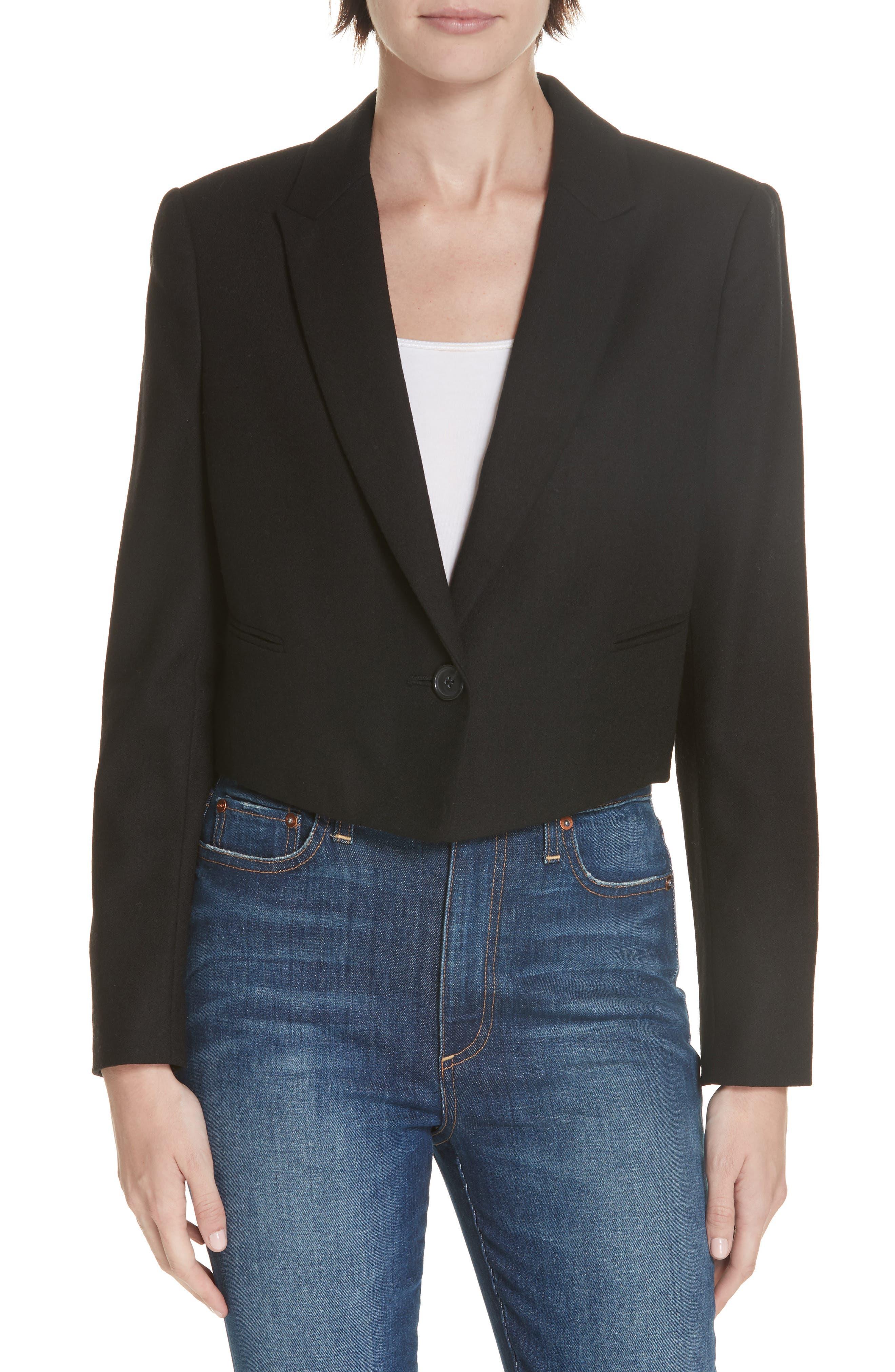 Wright Wool Jacket in True Black