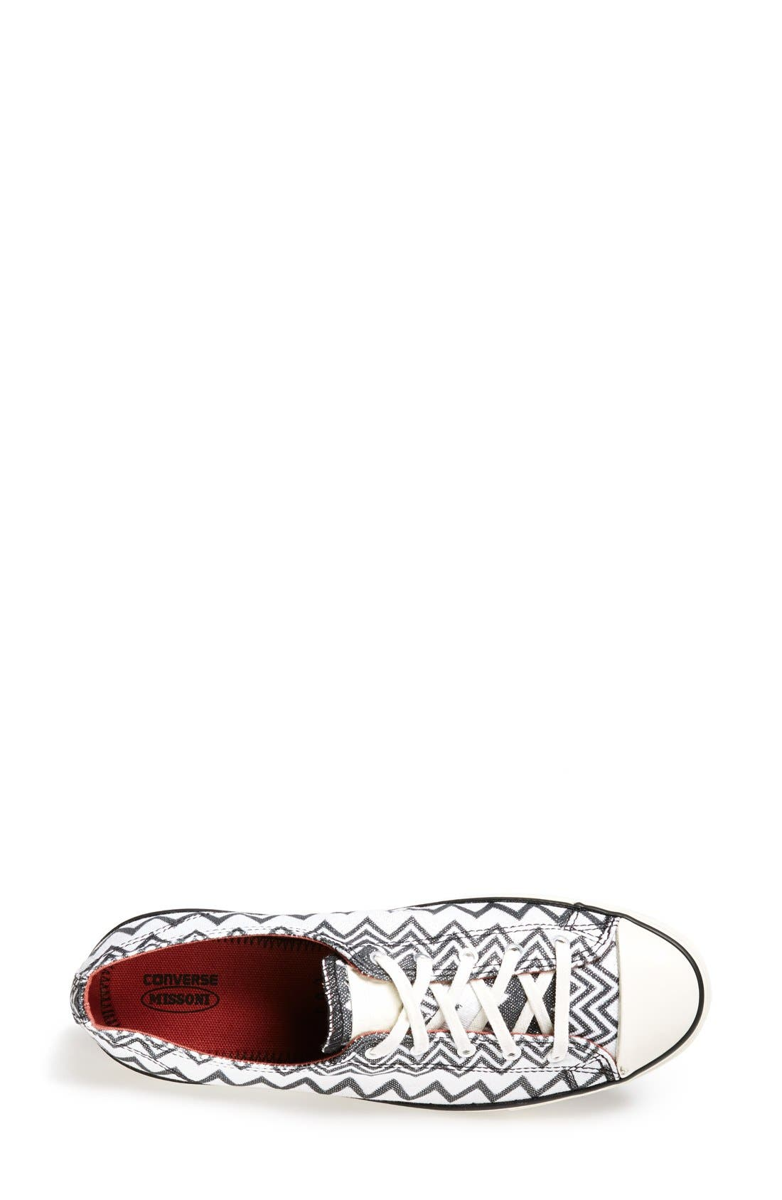 x Missoni Chuck Taylor<sup>®</sup> All Star<sup>®</sup> 'Fancy' Ox Sneaker,                             Alternate thumbnail 4, color,