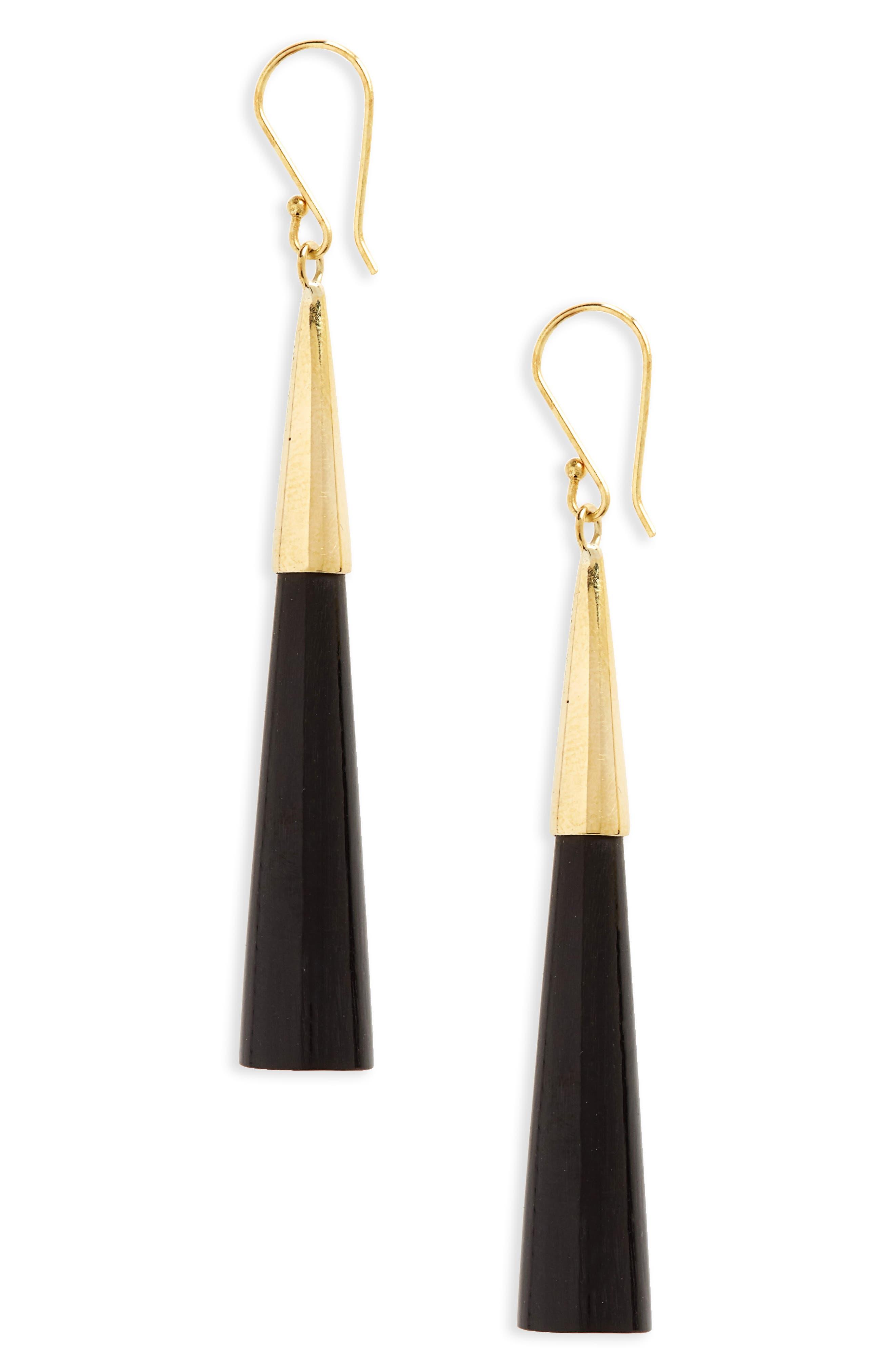 Pia Linear Earrings,                             Main thumbnail 1, color,                             001
