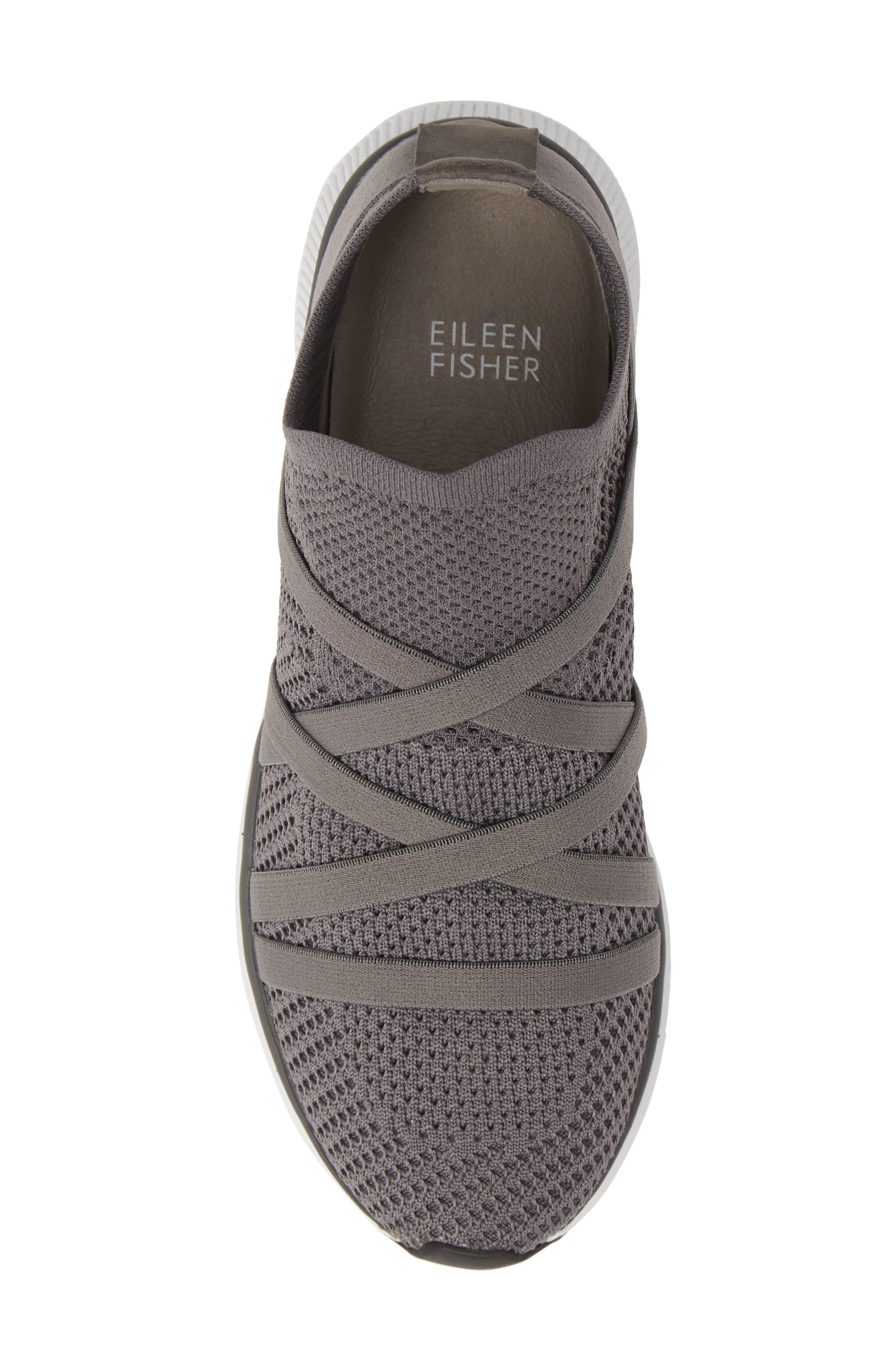EILEEN FISHER,                             Xanady Woven Slip-On Sneaker,                             Alternate thumbnail 5, color,                             GRAPHITE FABRIC