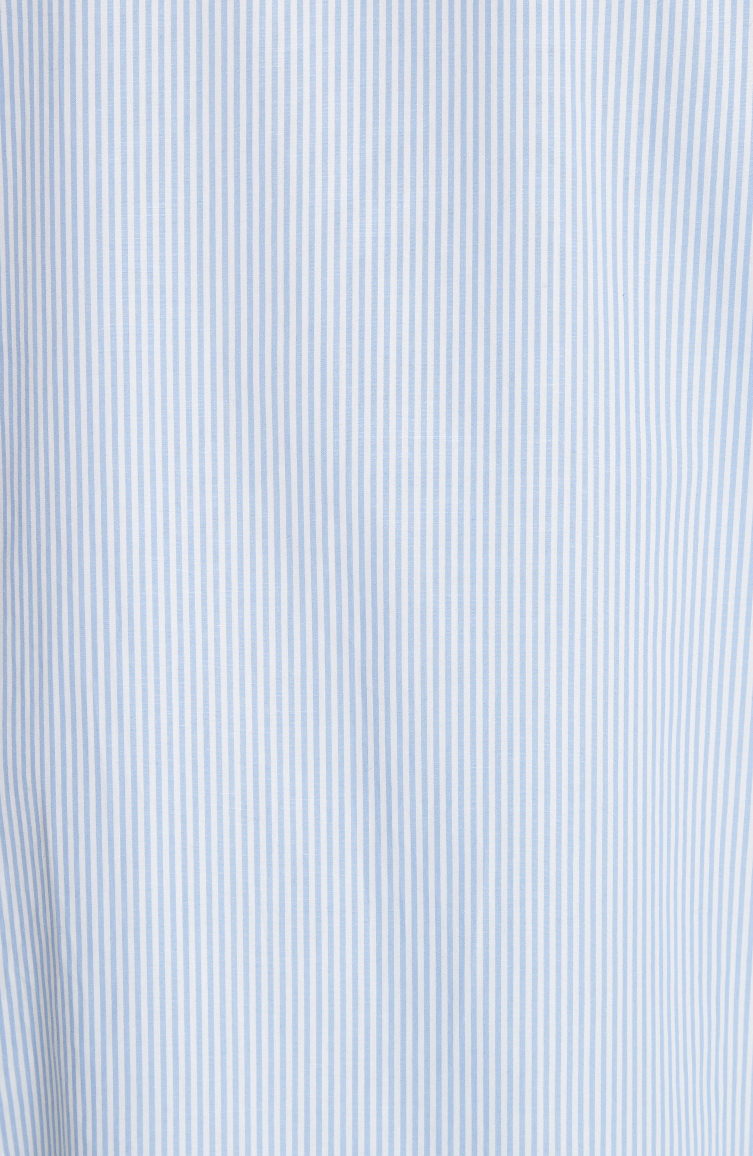 Kenton Stripe Poplin Top,                             Alternate thumbnail 5, color,                             100