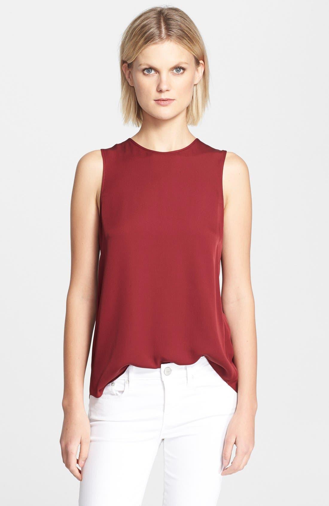 'Bringam' Silk Top, Main, color, 349