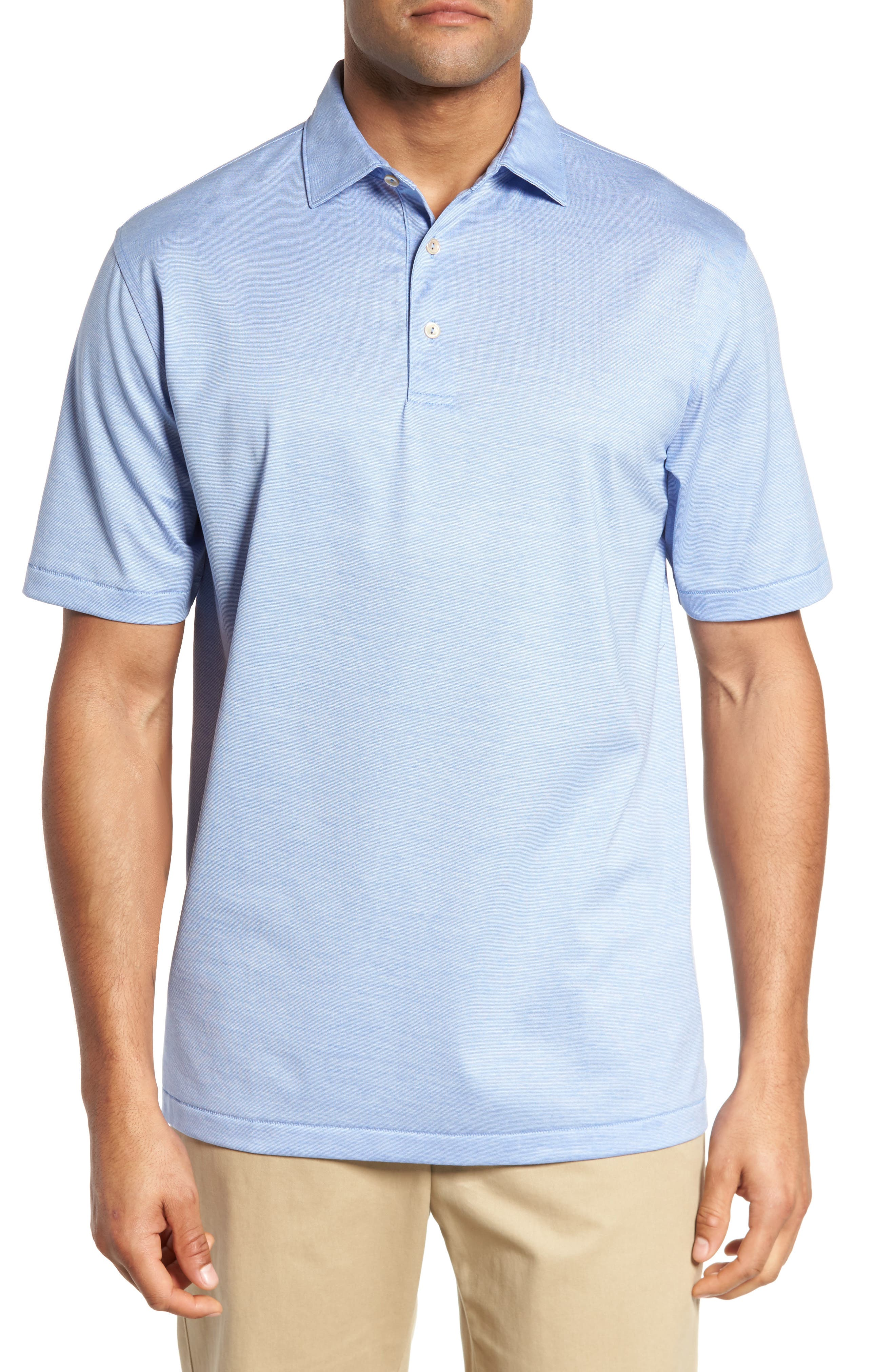 PETER MILLAR Briarwood Stripe Cotton Polo, Main, color, ATLAS BLUE
