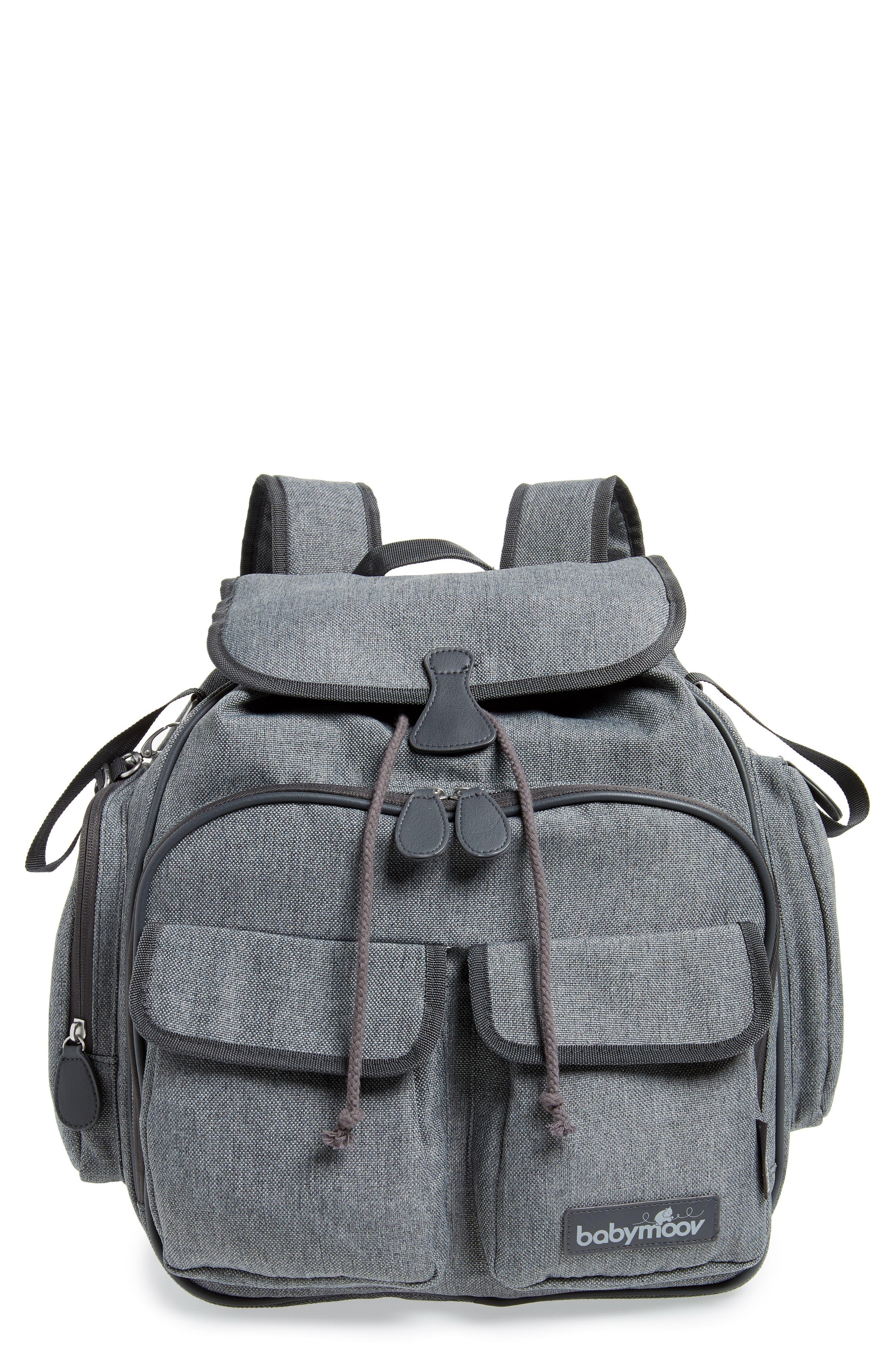 Glober Water Resistant Diaper Backpack,                             Main thumbnail 1, color,                             SMOKEY