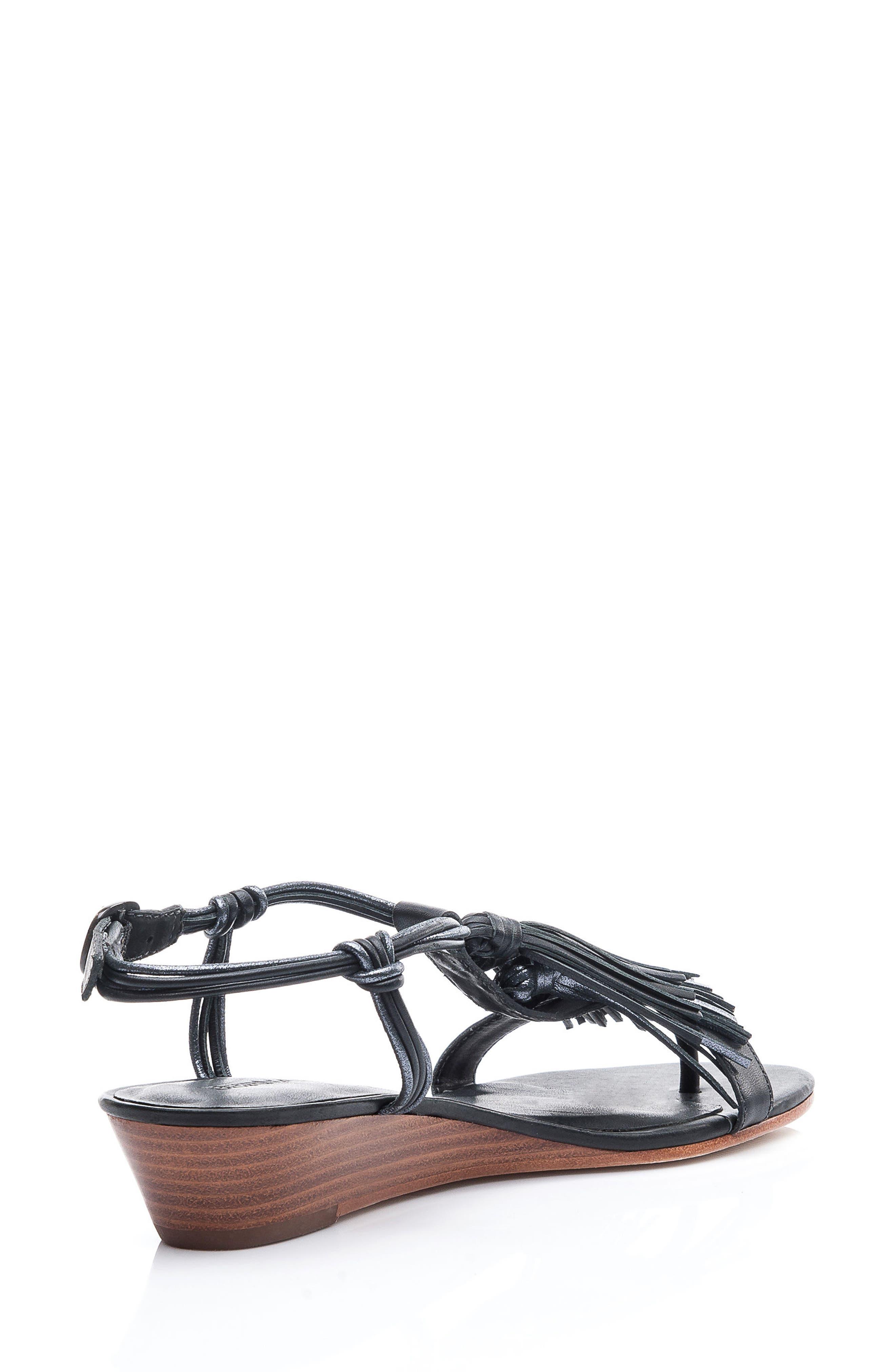 Footwear Court Fringe Leather Sandal,                             Alternate thumbnail 10, color,
