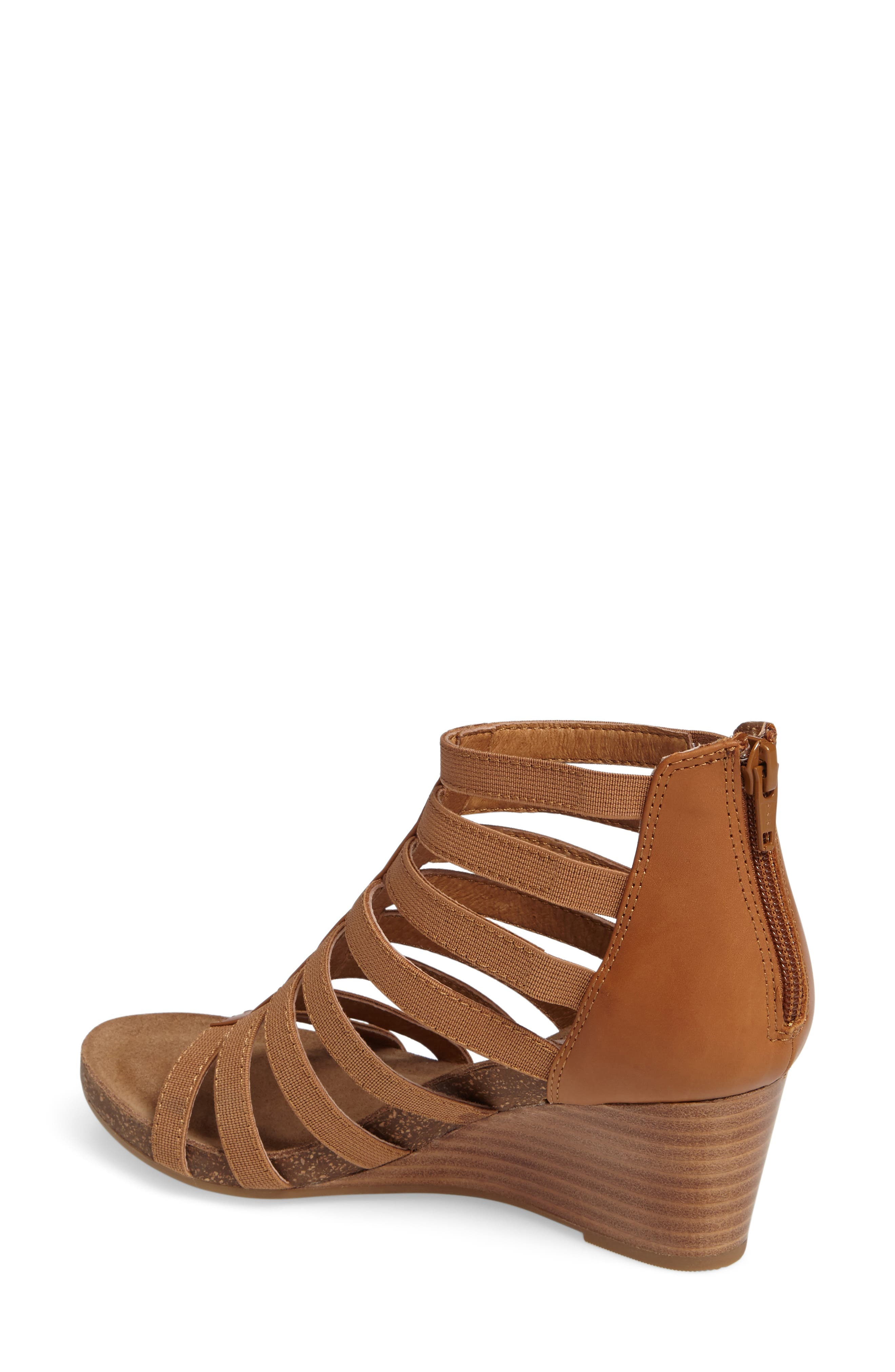Mati Caged Wedge Sandal,                             Alternate thumbnail 5, color,