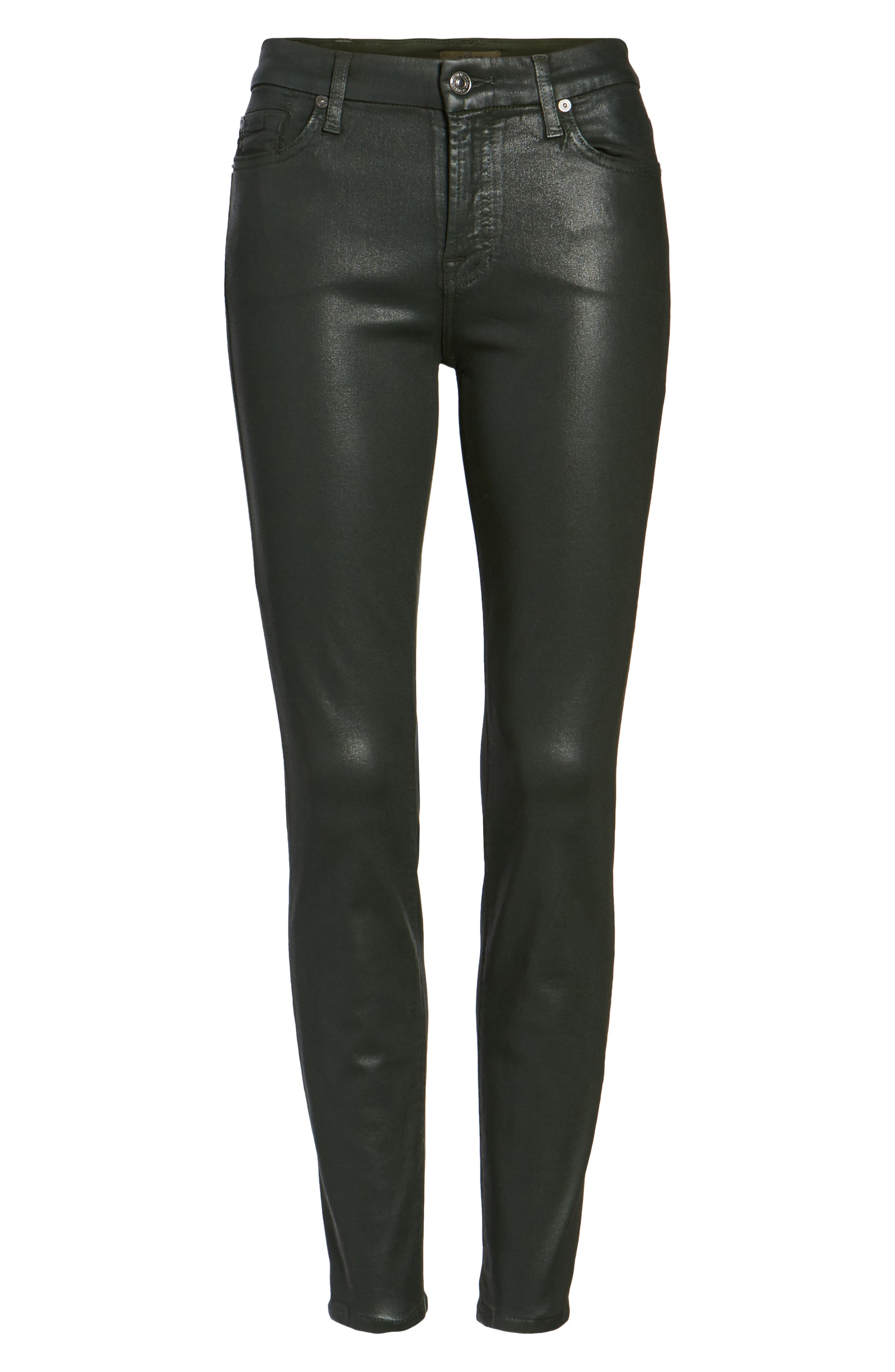 Coated Ankle Skinny Jeans,                             Alternate thumbnail 24, color,