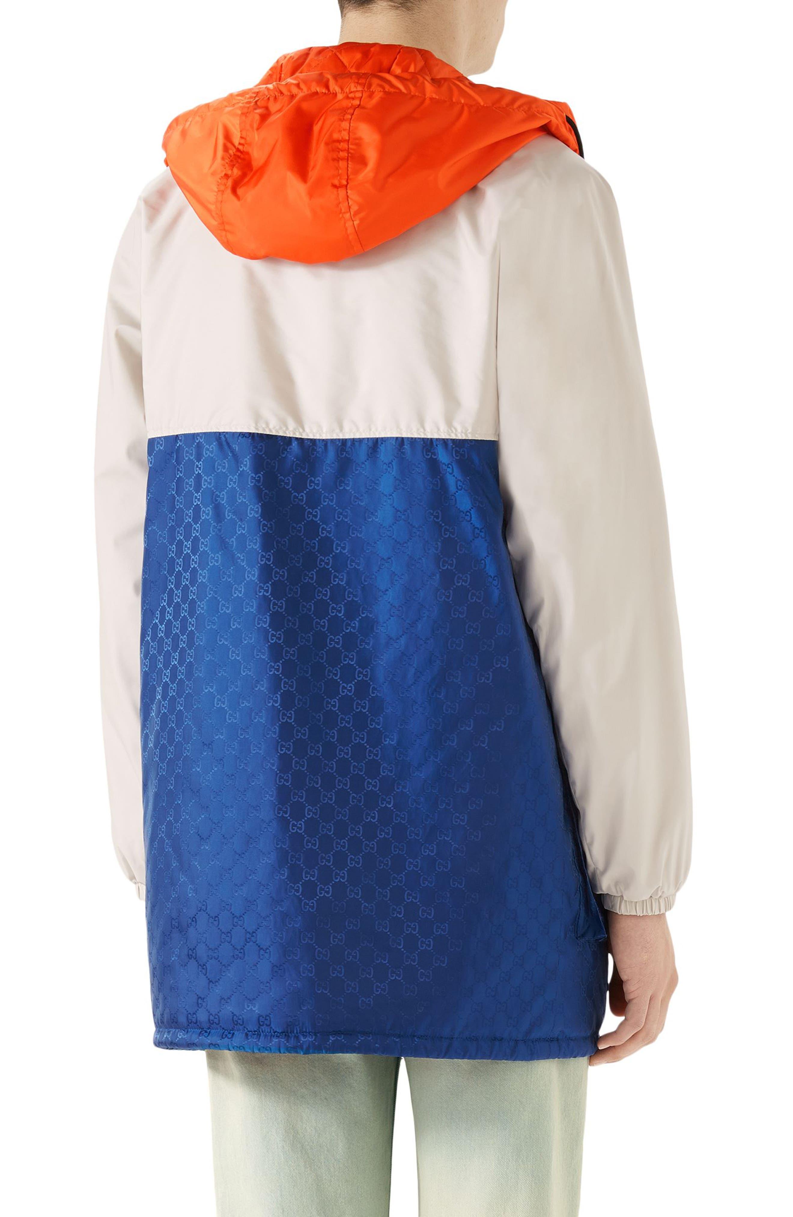 Multicolor Hooded Jacket,                             Alternate thumbnail 2, color,                             BLUE