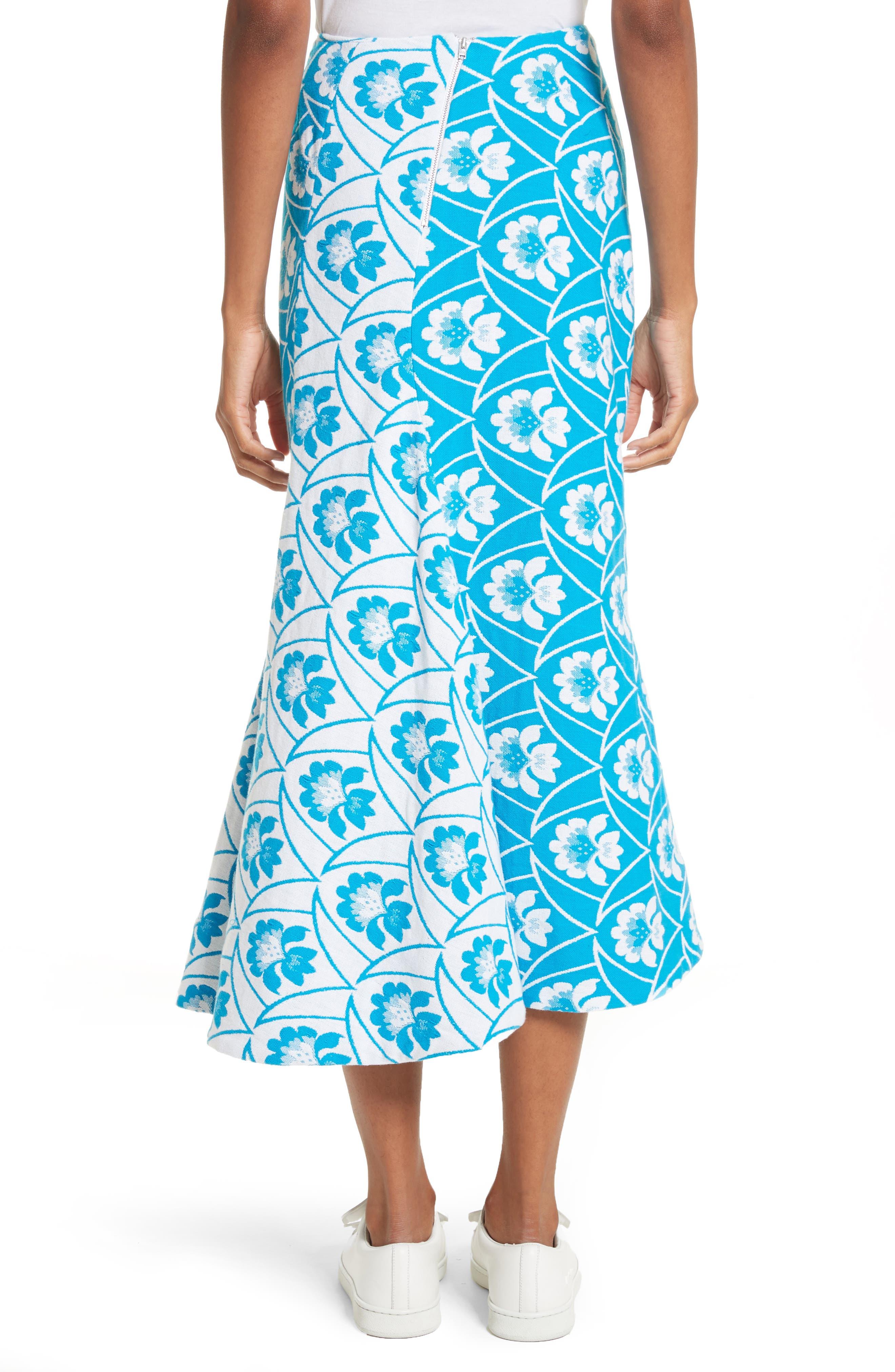 Twist Seam Flare Hem Skirt,                             Alternate thumbnail 2, color,                             460