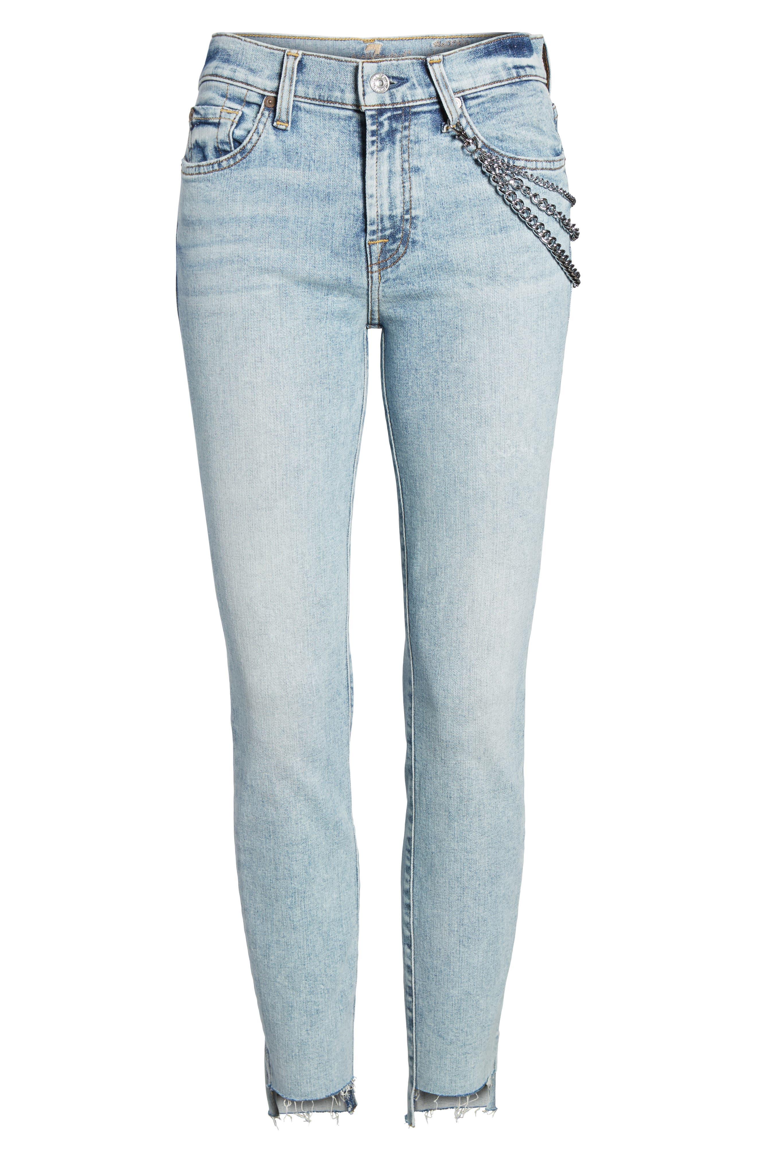 Step Hem Ankle Skinny Jeans,                             Alternate thumbnail 7, color,                             400