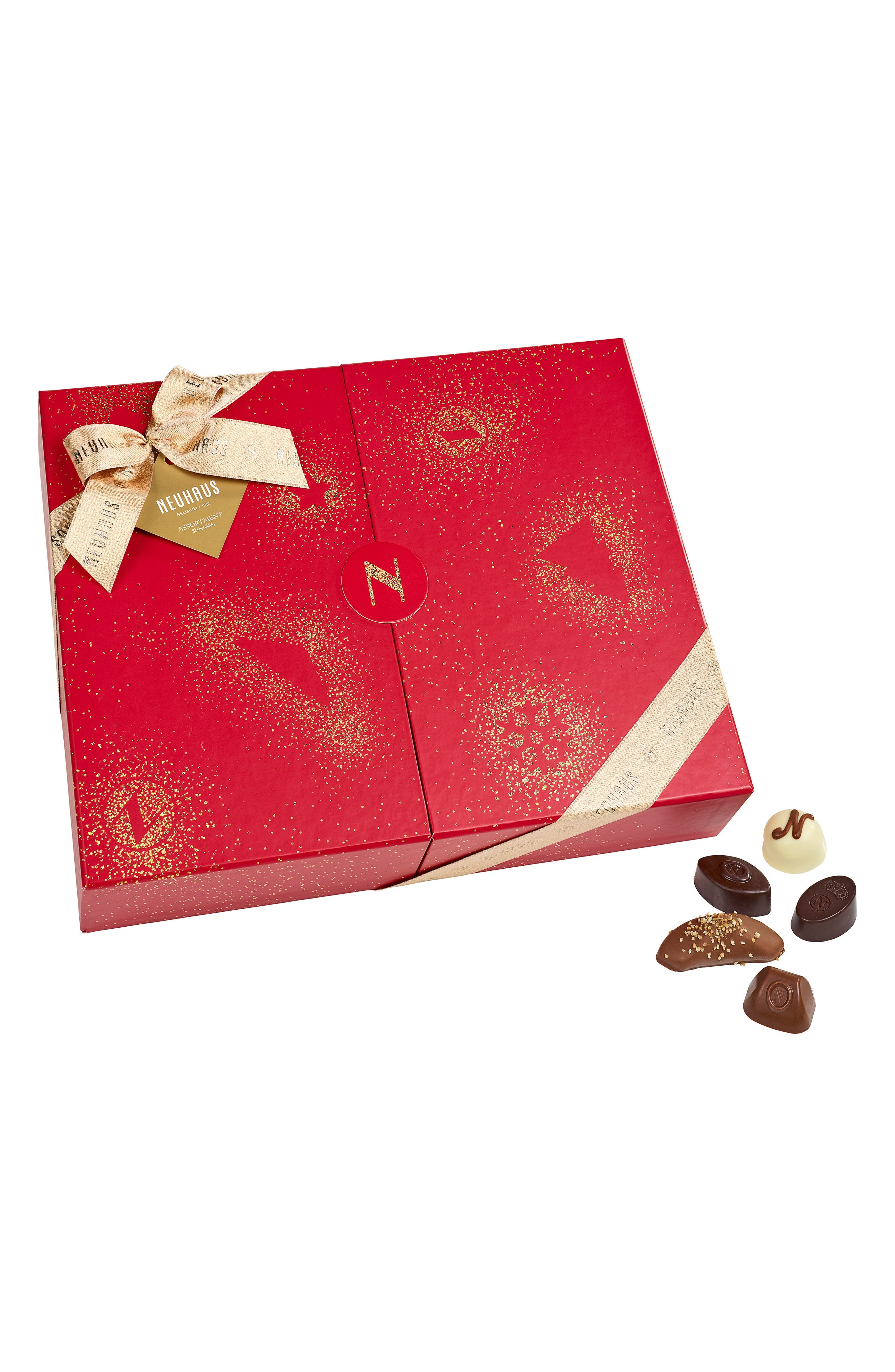 NEUHAUS Premium 62-Piece Chocolate Gift Box, Main, color, 600