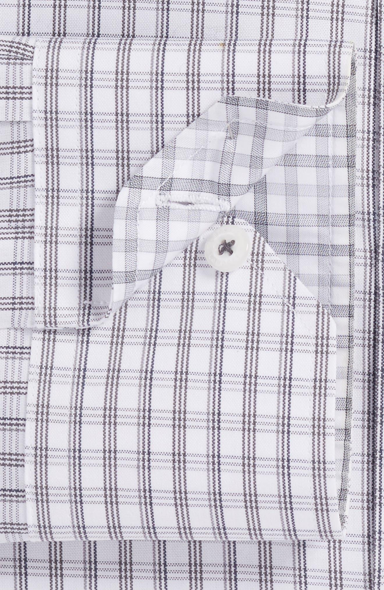 Trim Fit Plaid Dress Shirt,                             Alternate thumbnail 2, color,                             020