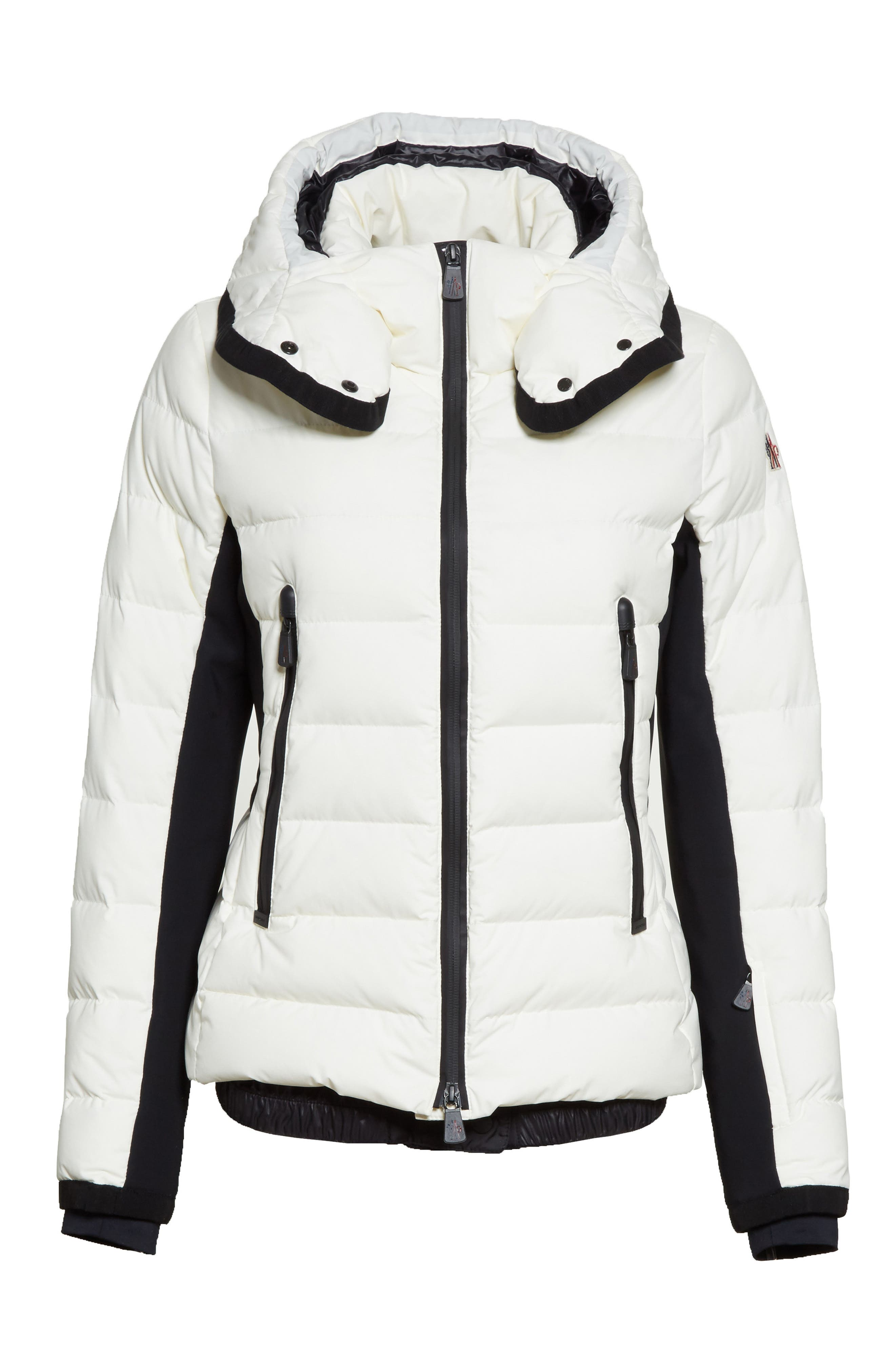 Lamoura Quilted Down Puffer Coat,                             Alternate thumbnail 5, color,                             WHITE