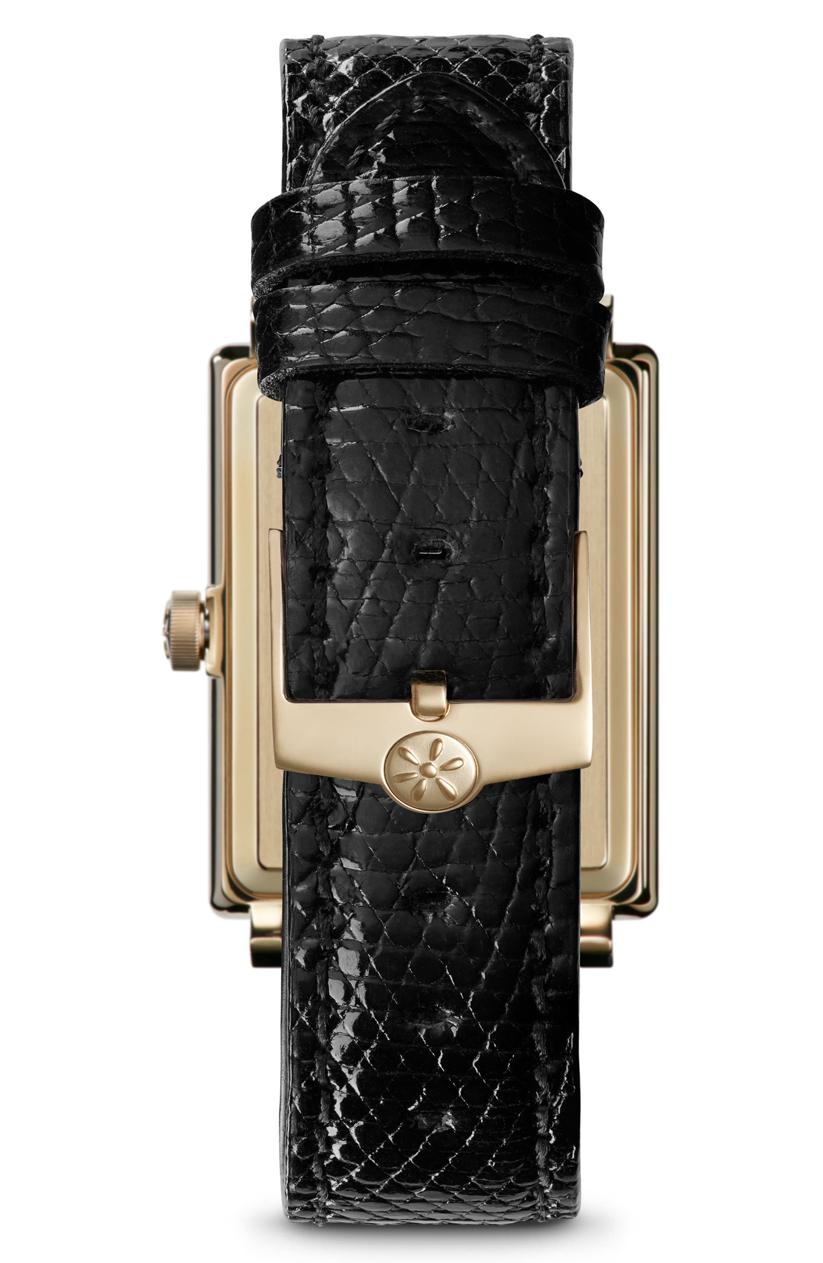 The Shirley Fromer Leather Strap Watch, 32mm x 25mm,                             Alternate thumbnail 4, color,