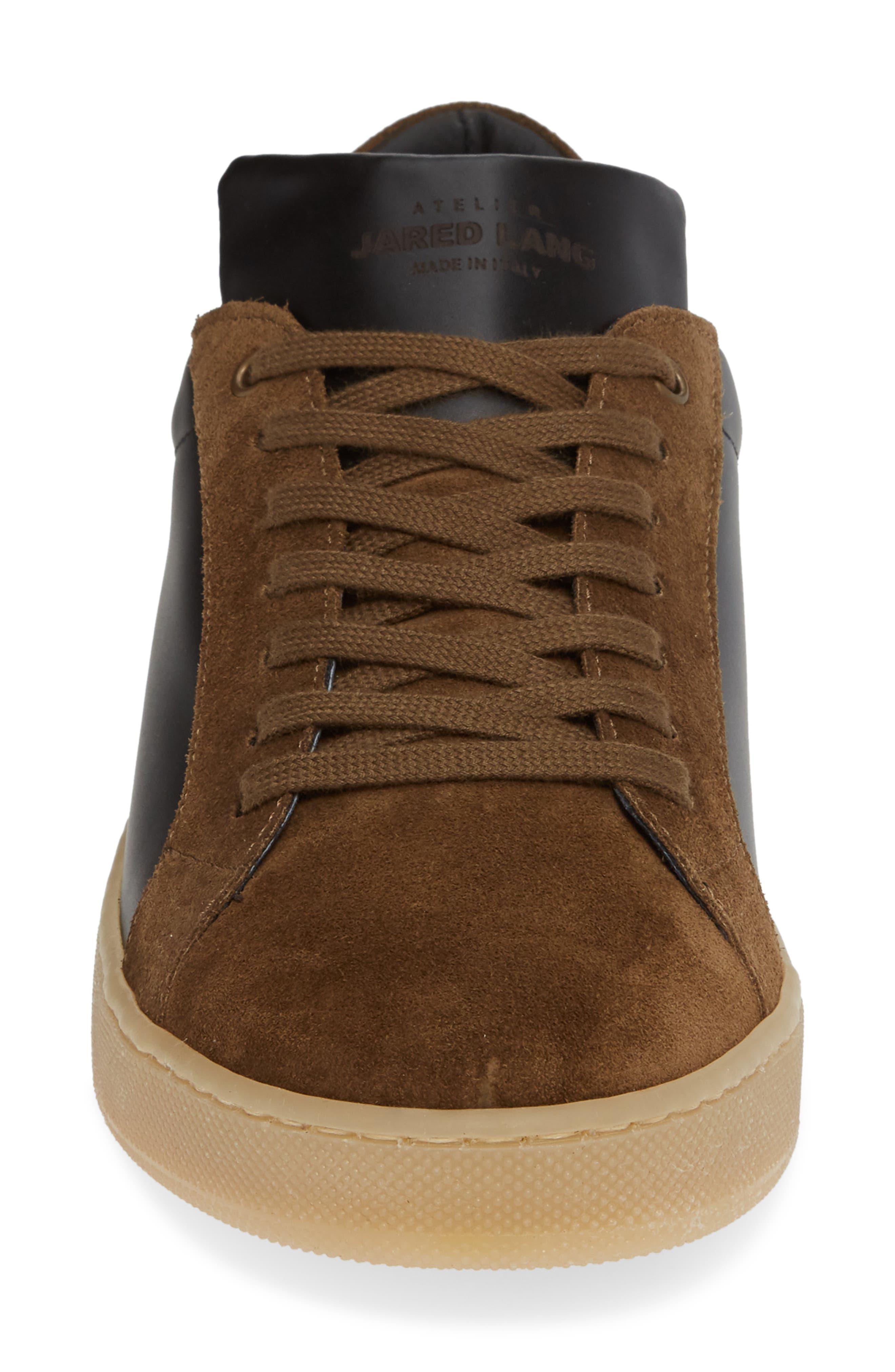 Rome Sneaker,                             Alternate thumbnail 4, color,                             BLACK/ GEIGE