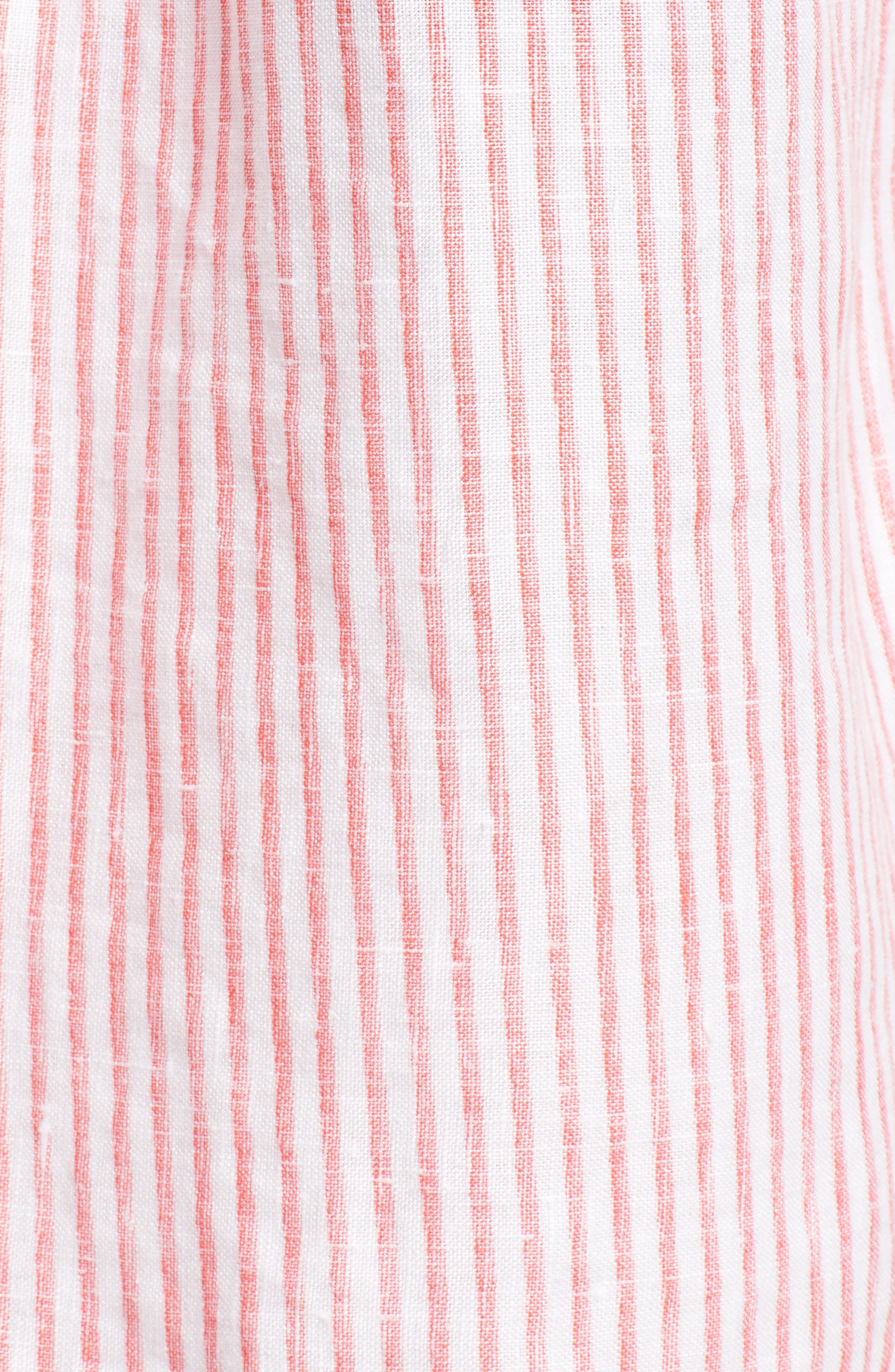 Crystalline Waters Long Sleeve Shirt,                             Alternate thumbnail 5, color,                             DUBARRY CORAL