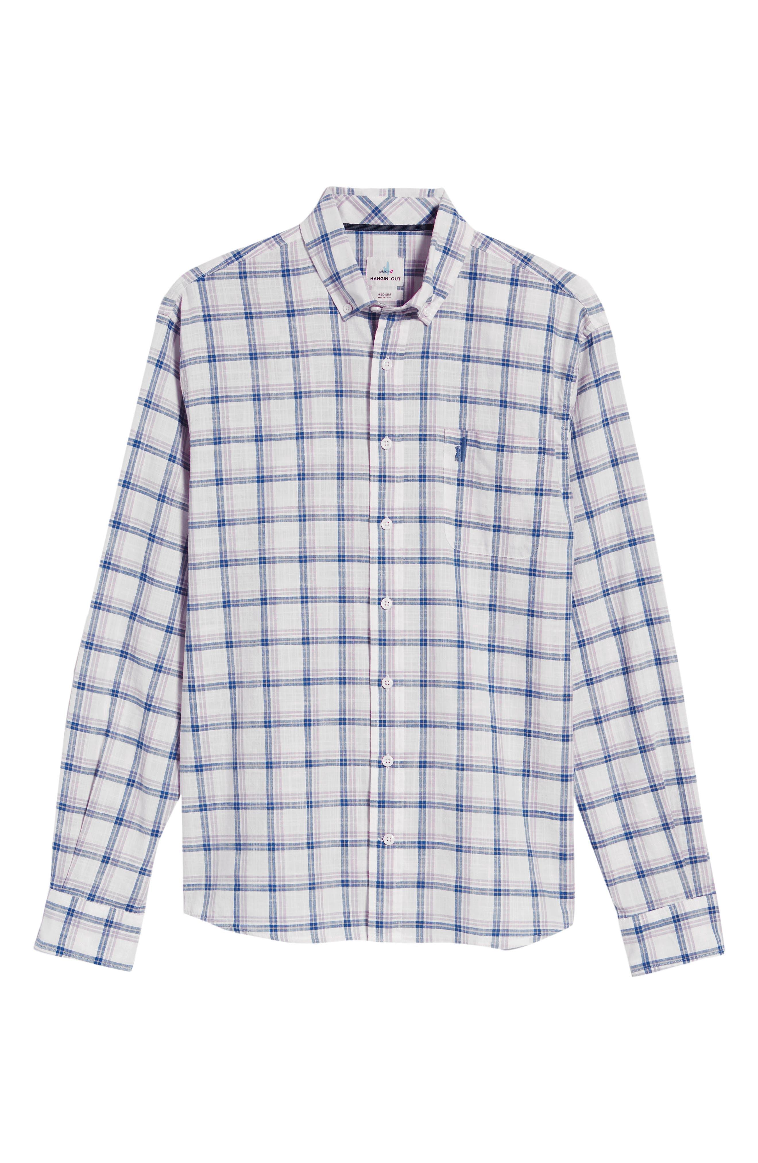 Davis Regular Fit Sport Shirt,                             Alternate thumbnail 5, color,                             LILAC