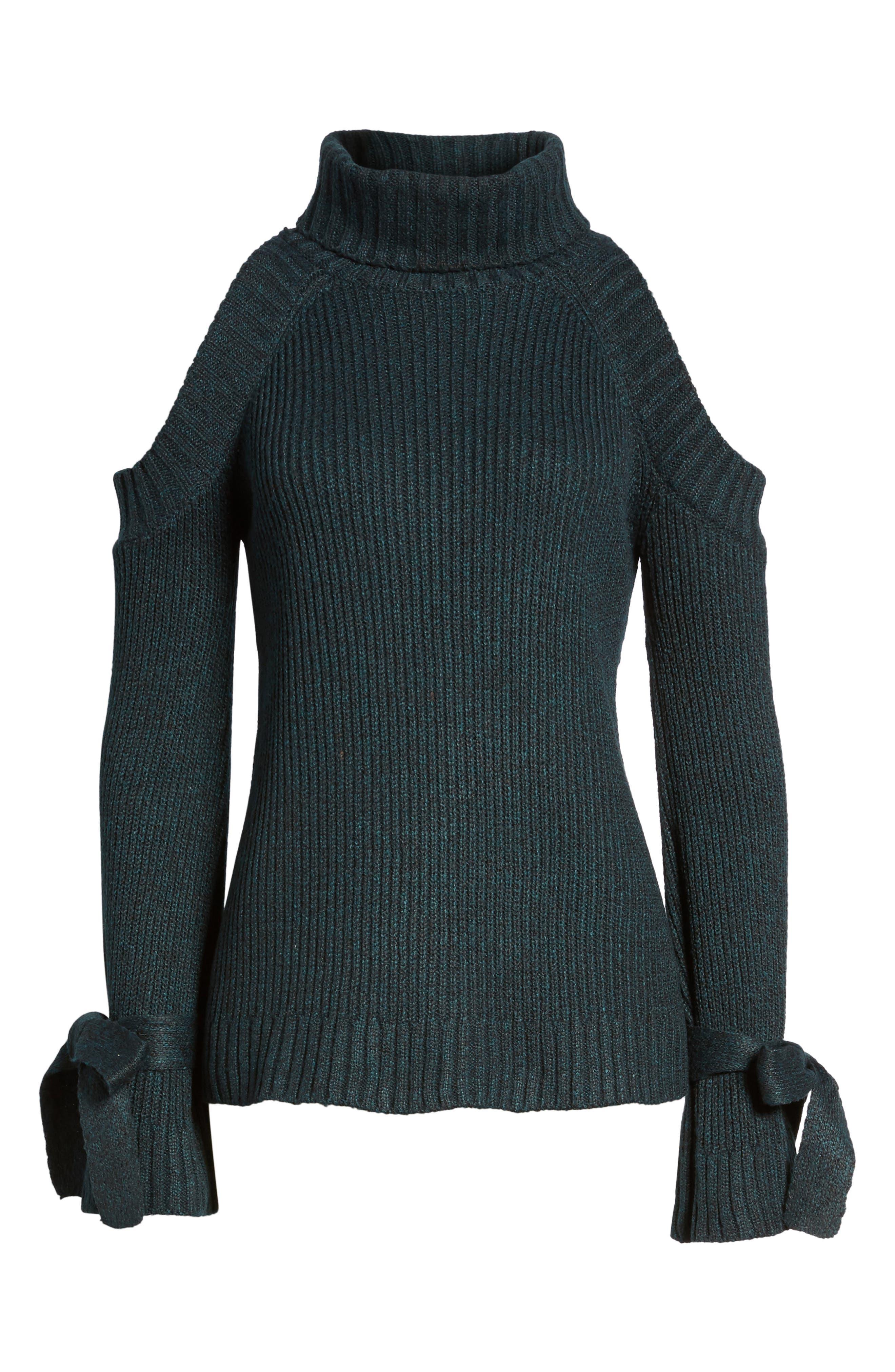 Cold Shoulder Turtleneck Sweater,                             Alternate thumbnail 6, color,                             300