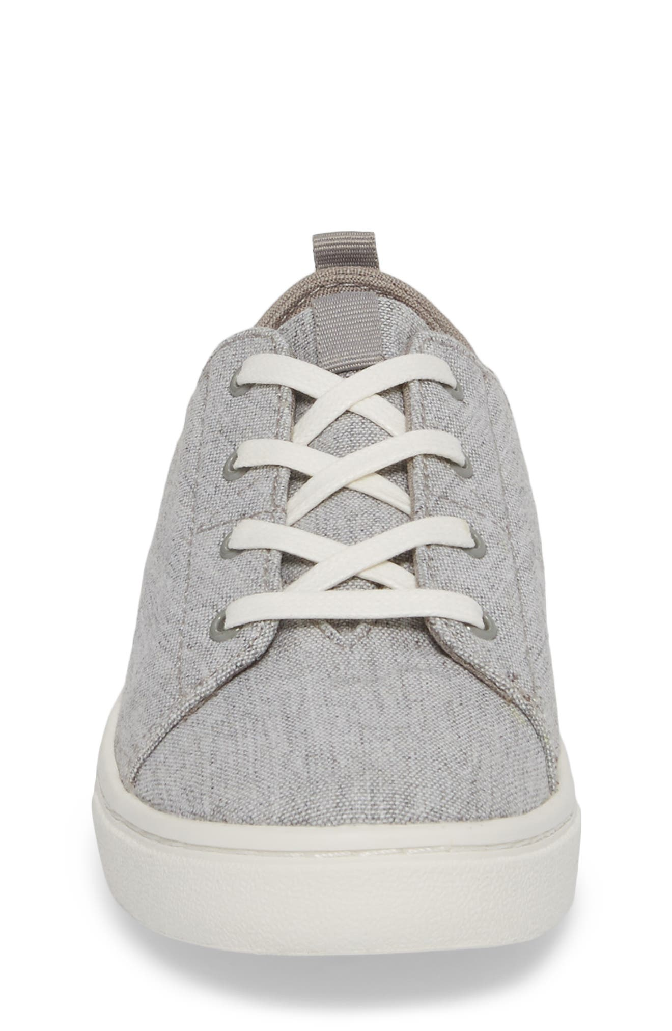 Lenny Sneaker,                             Alternate thumbnail 4, color,                             DRIZZLE GREY SLUB CHAMBRAY